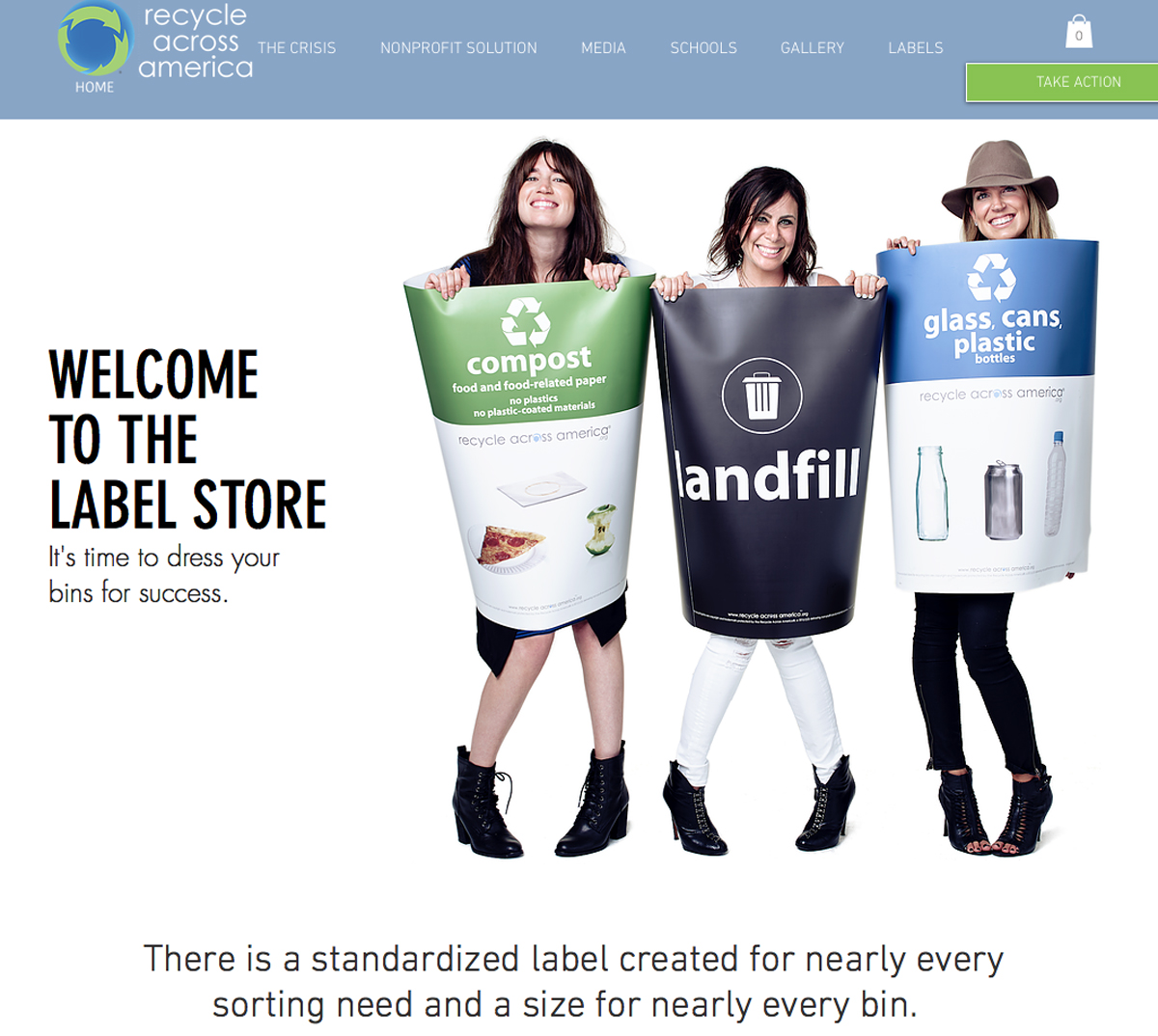 The Recycle Across America online label store (recycleacrossamerica.org) offers a wide variety of ready-made, full color recycling bin labels for use in offices, schools, and other public places. Placing the right signage on recycling bins is one way to encourage others to recycle too.