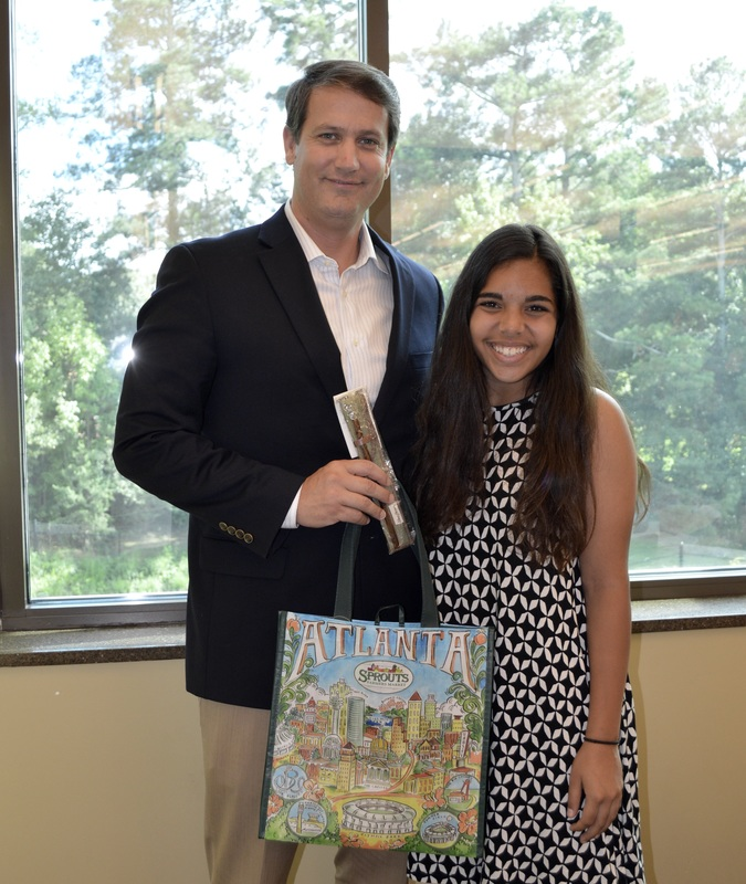 Hannah Testa worked with Senator Williams to proclaim February 15, 2017 Plastic Pollution Awareness Day in Georgia.