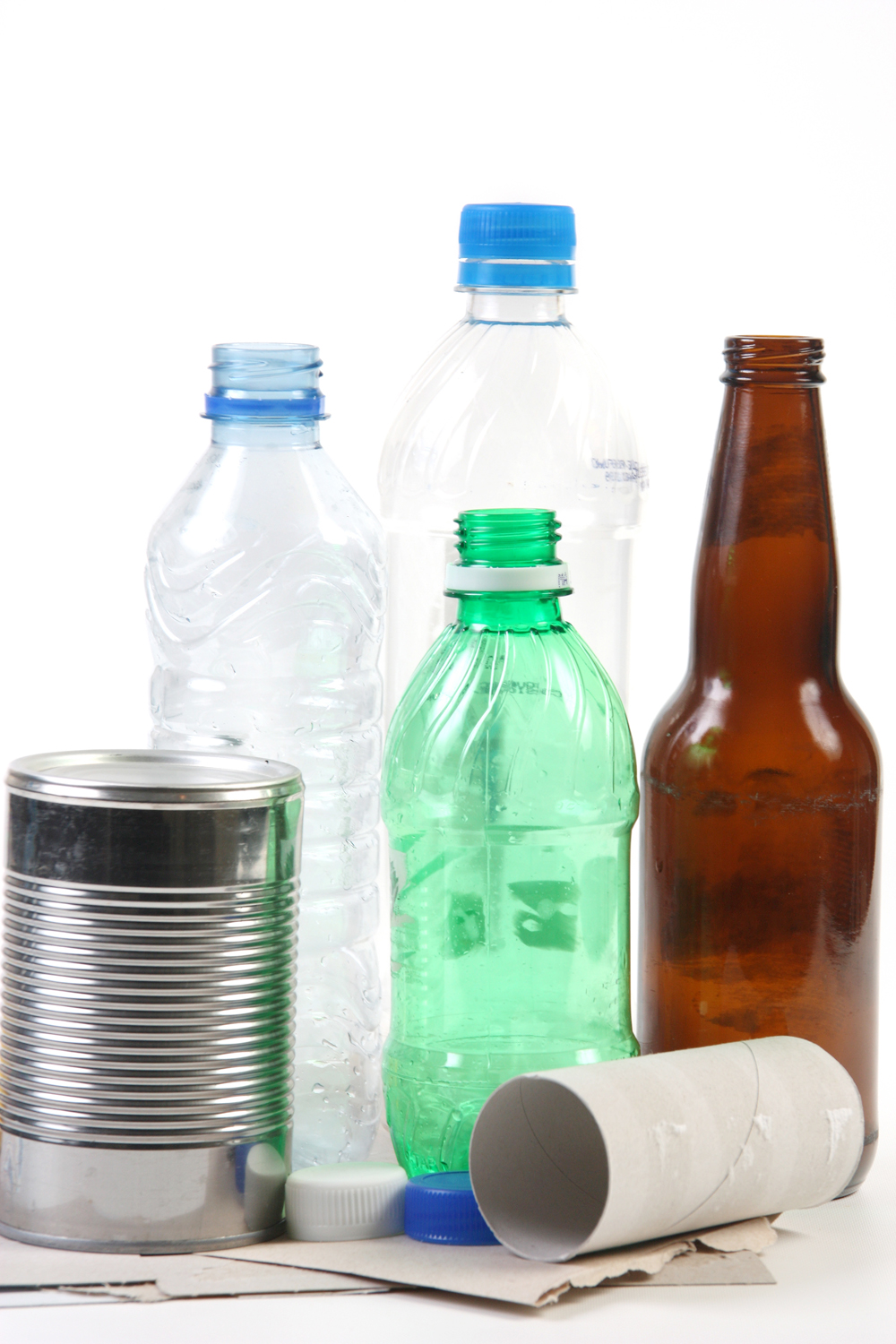 Participants in the curbside recycling program can recycle products like paper, plastic bottles, glass bottles, and bi-metal cans.