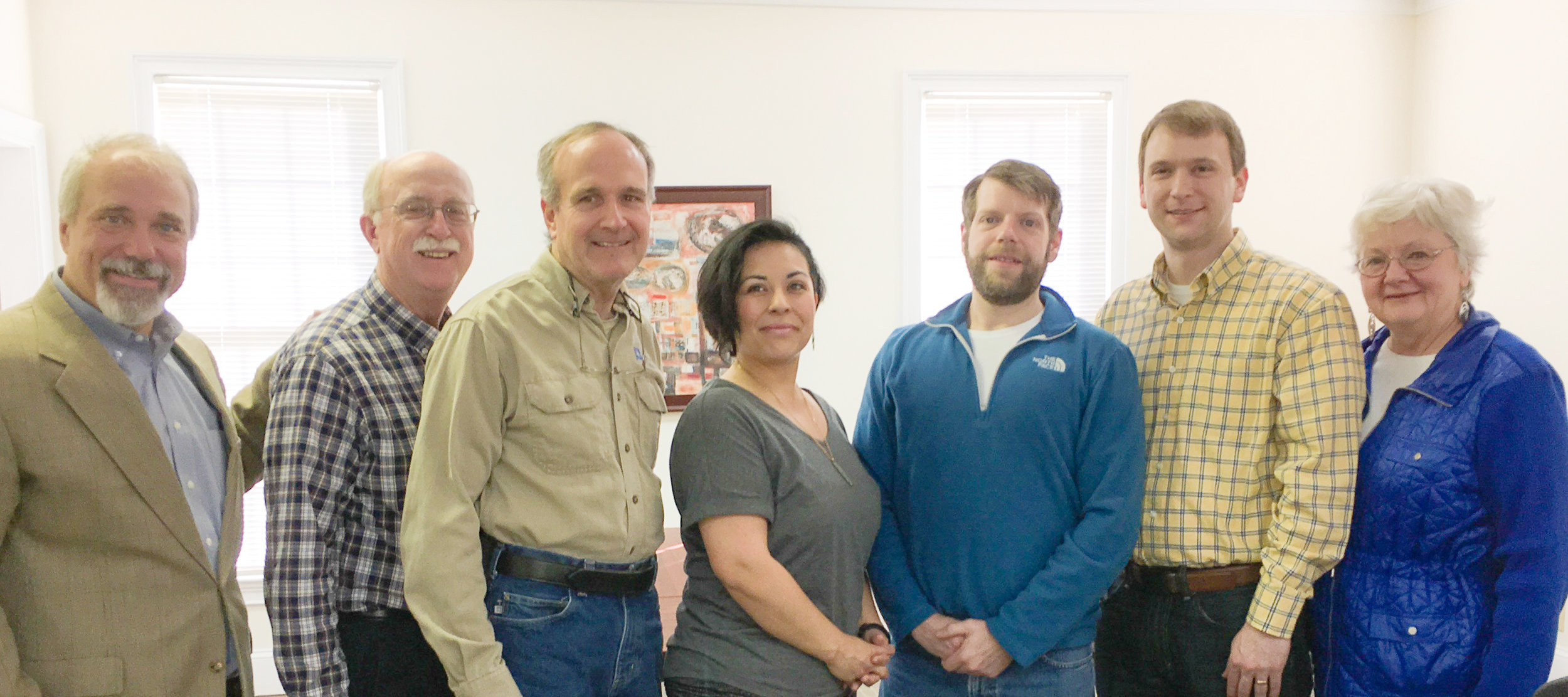 Pictured L-R: David Aft, president of the Community Foundation of Northwest Georgia, meet with board members from Keep Dalton-Whitfield Beautiful recently to establish an endowment fund. Also pictured are board members Clyde Taylor, Phillip Pfeifer, Liz Swafford, Anthony Cline, Aaron Marcelli, Patricia Edwards.