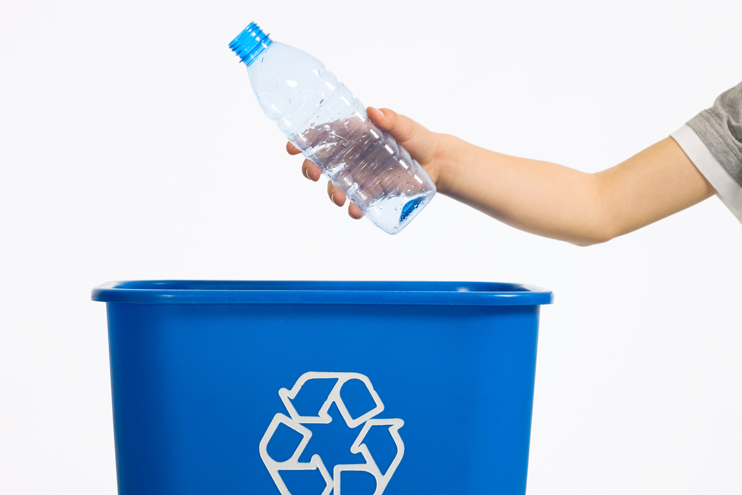 On America Recycles Day take a moment to place your empty water bottle in the nearest recycling bin. Items that get recycled are transformed into new products we can use again.