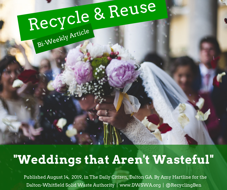 Change out the shiny, plastic confetti for soft, beautiful flower petals for an simple eco-friendly switch during a wedding.