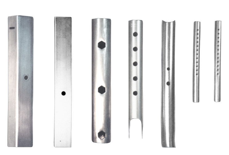 Various Pierced Tubes