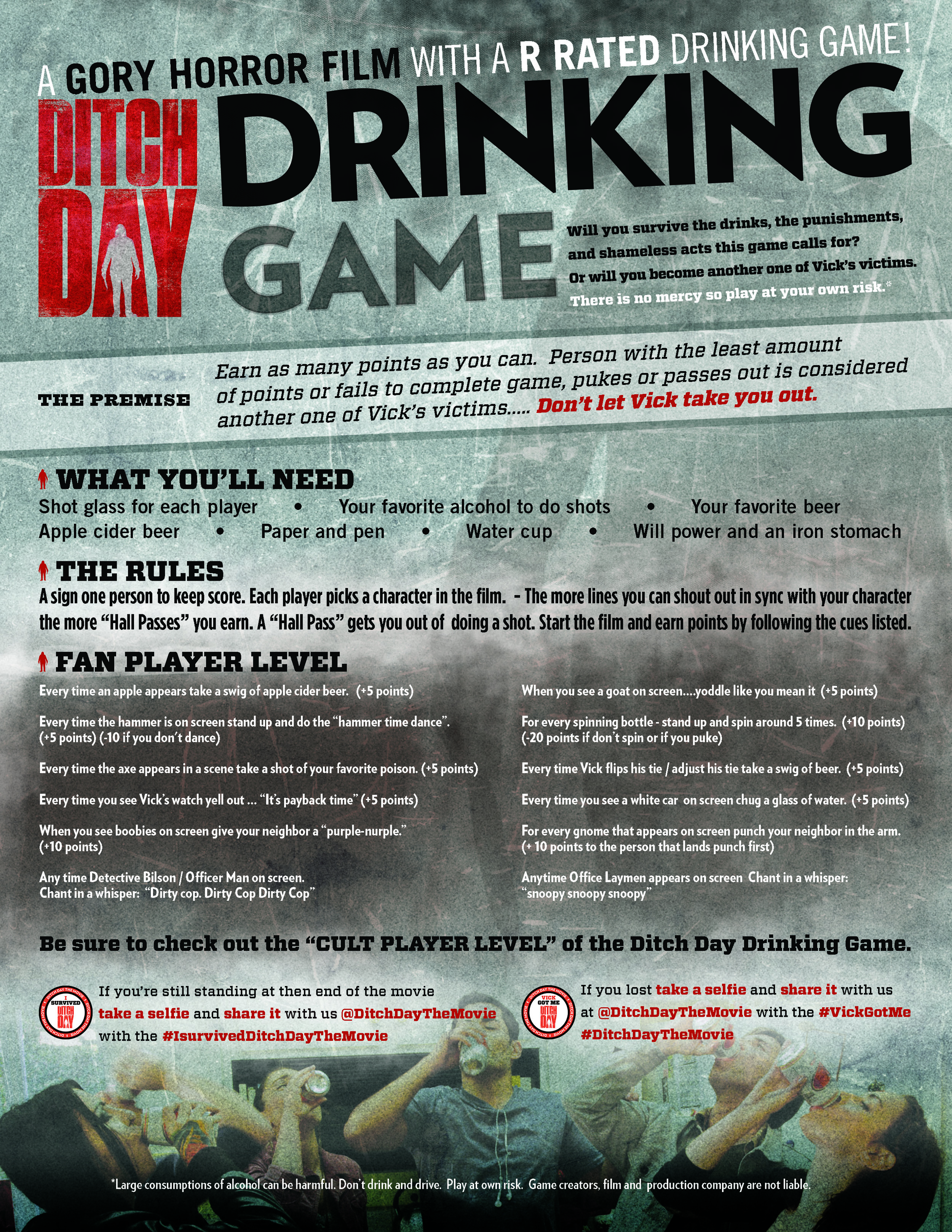 Ditch Day Drinking Game Rules - Fan Player