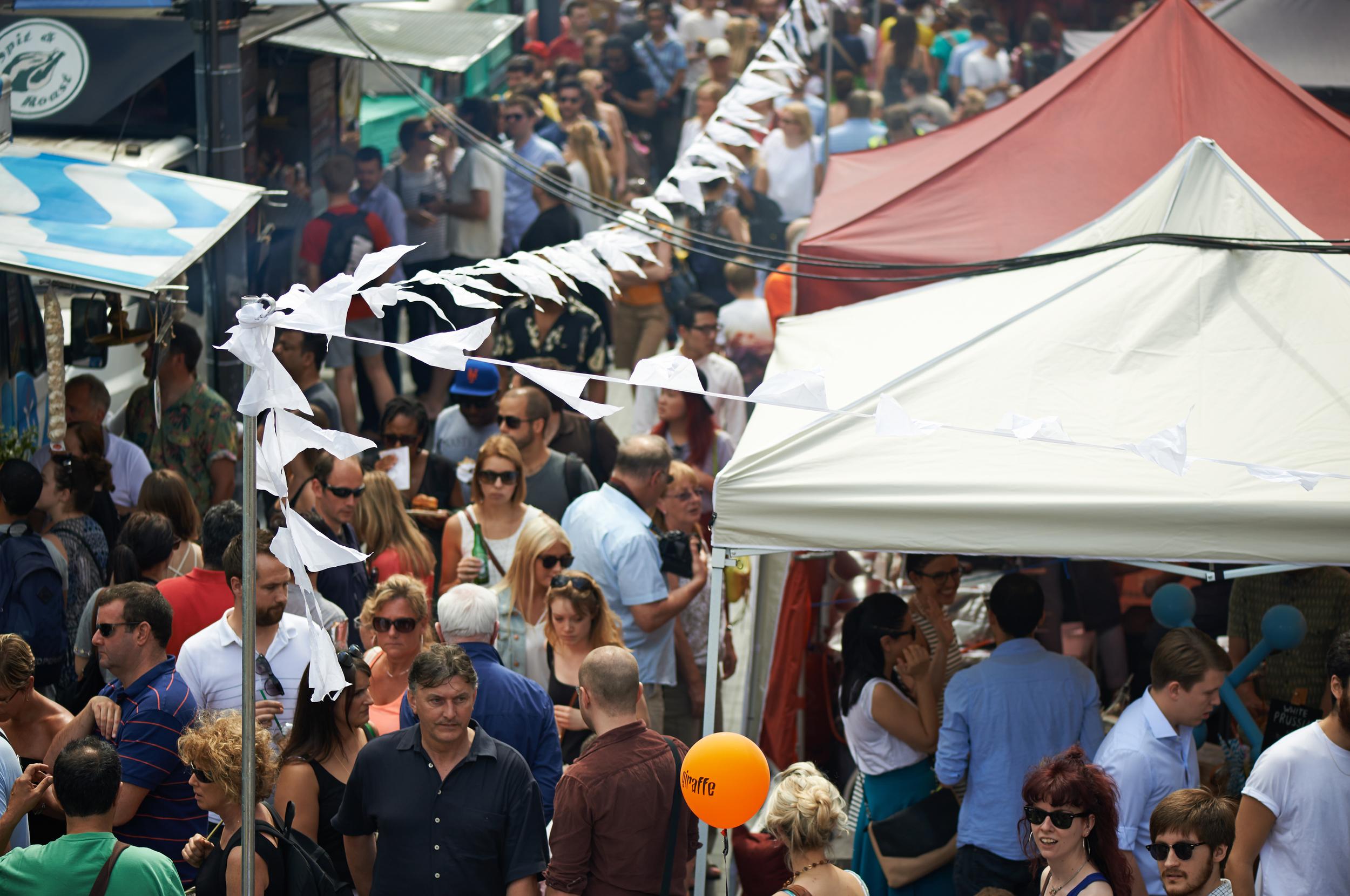 image of street food market in London