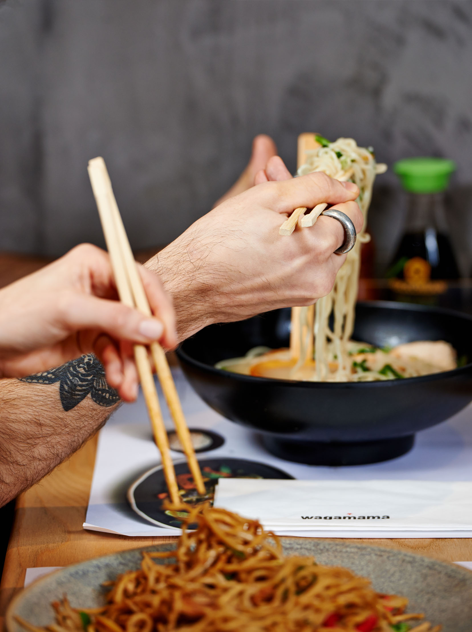 food photography for Wagamama restaurants