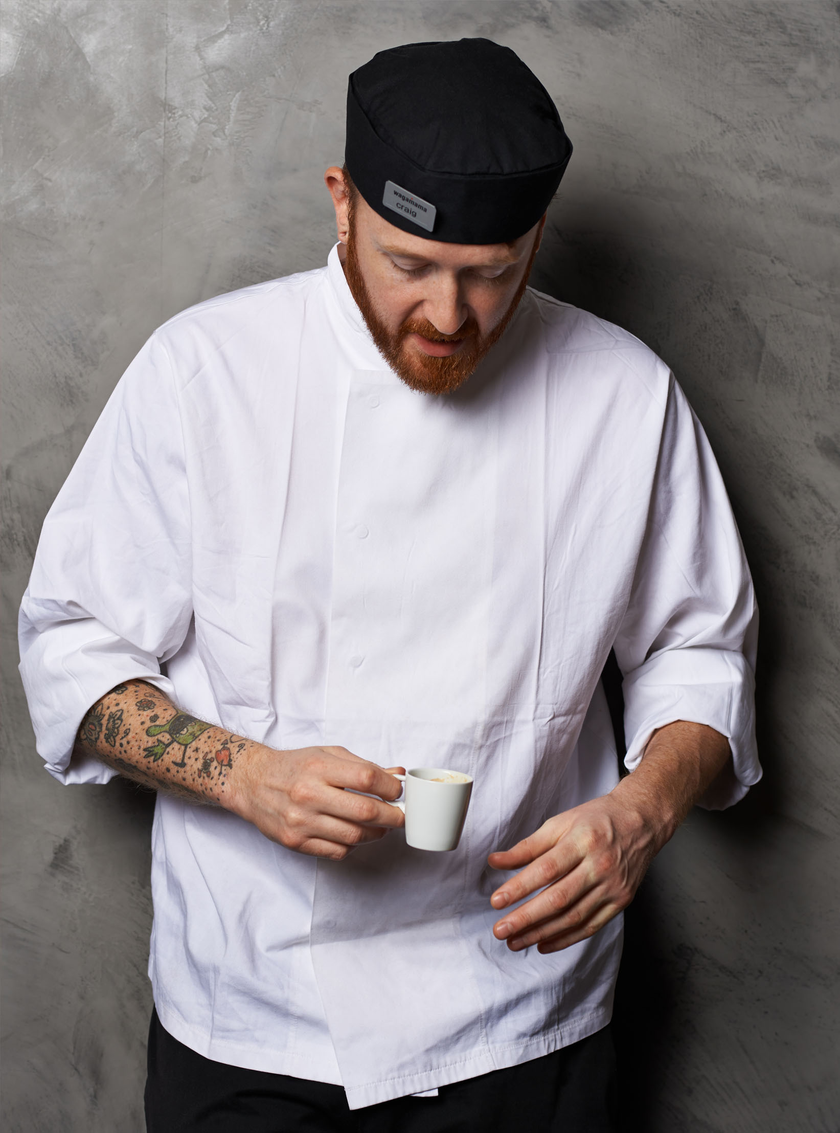 portrait of a Wagamama chef by Holly Pickering