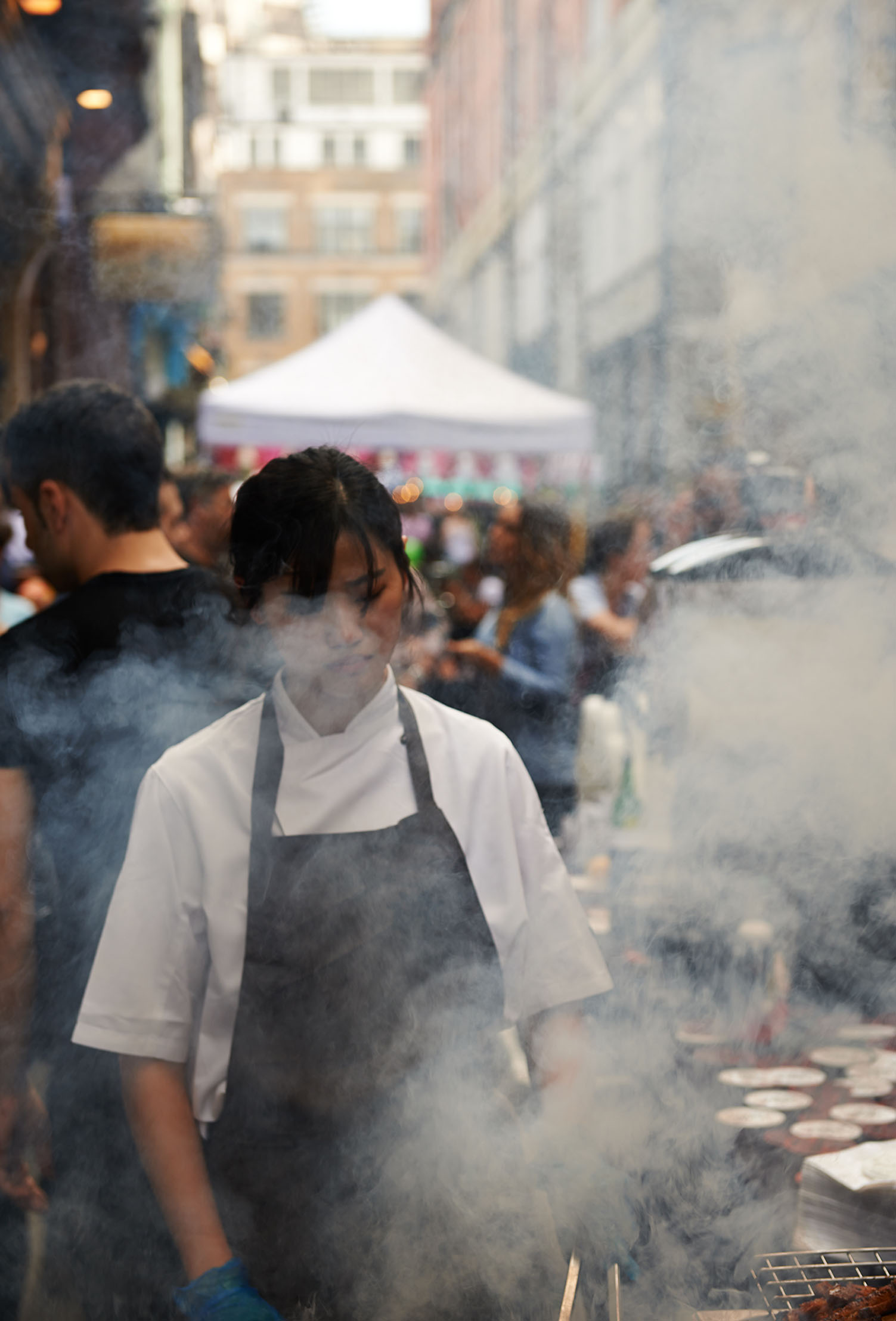 image of a chef barbecuing