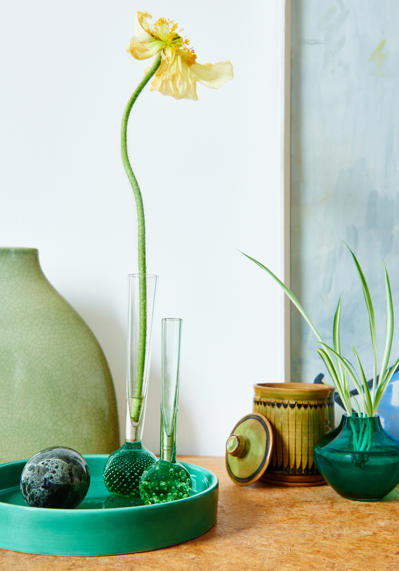 bud vases and mid century vessels