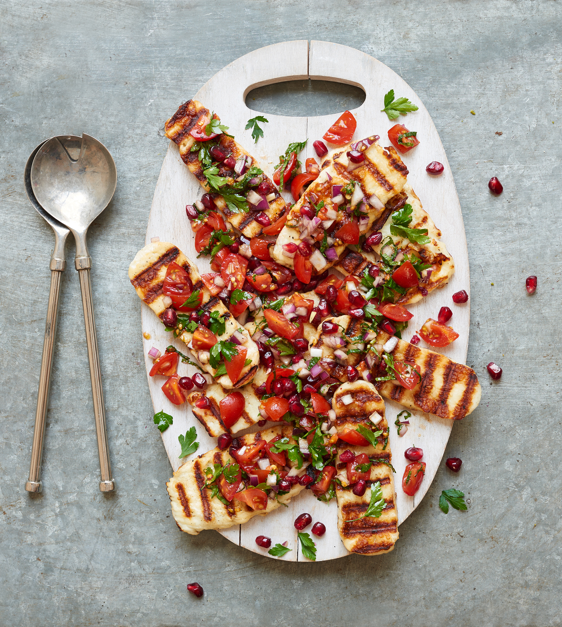 halloumi salad by food photographer Holly Pickering