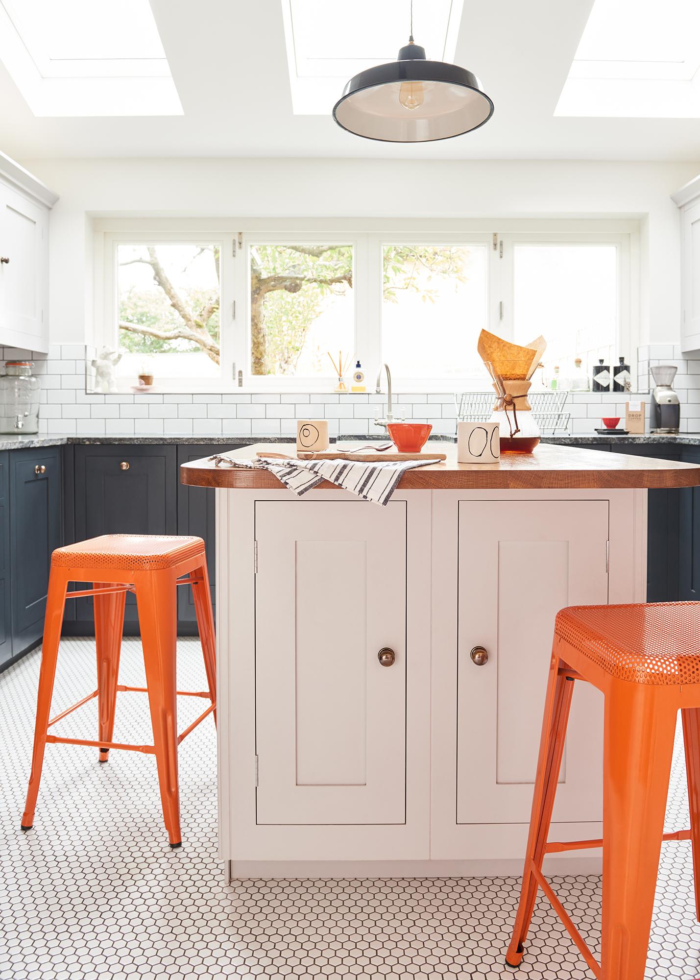 modern kitchen photoshoot