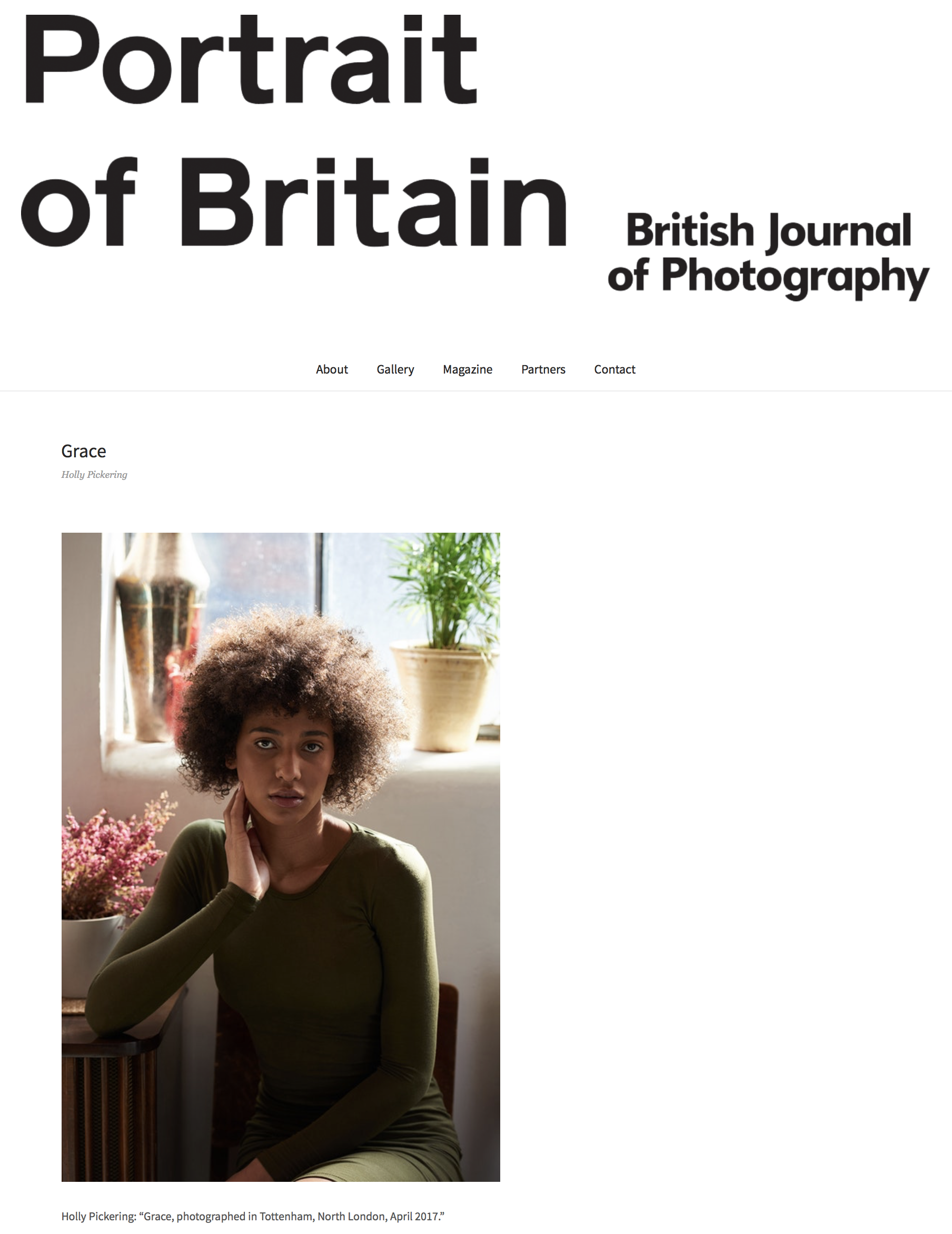Holly Pickering Portrait of Britain 2017 image