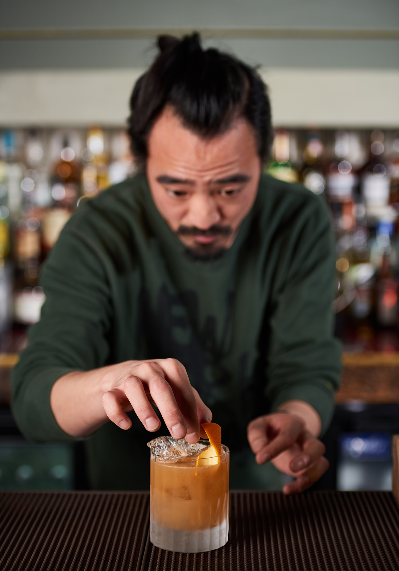 portrait of a London bartender