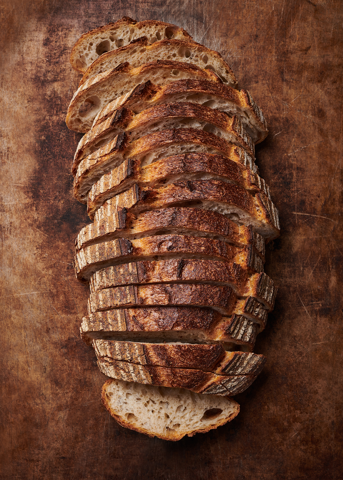 food photography of a rustic sourdough loaf