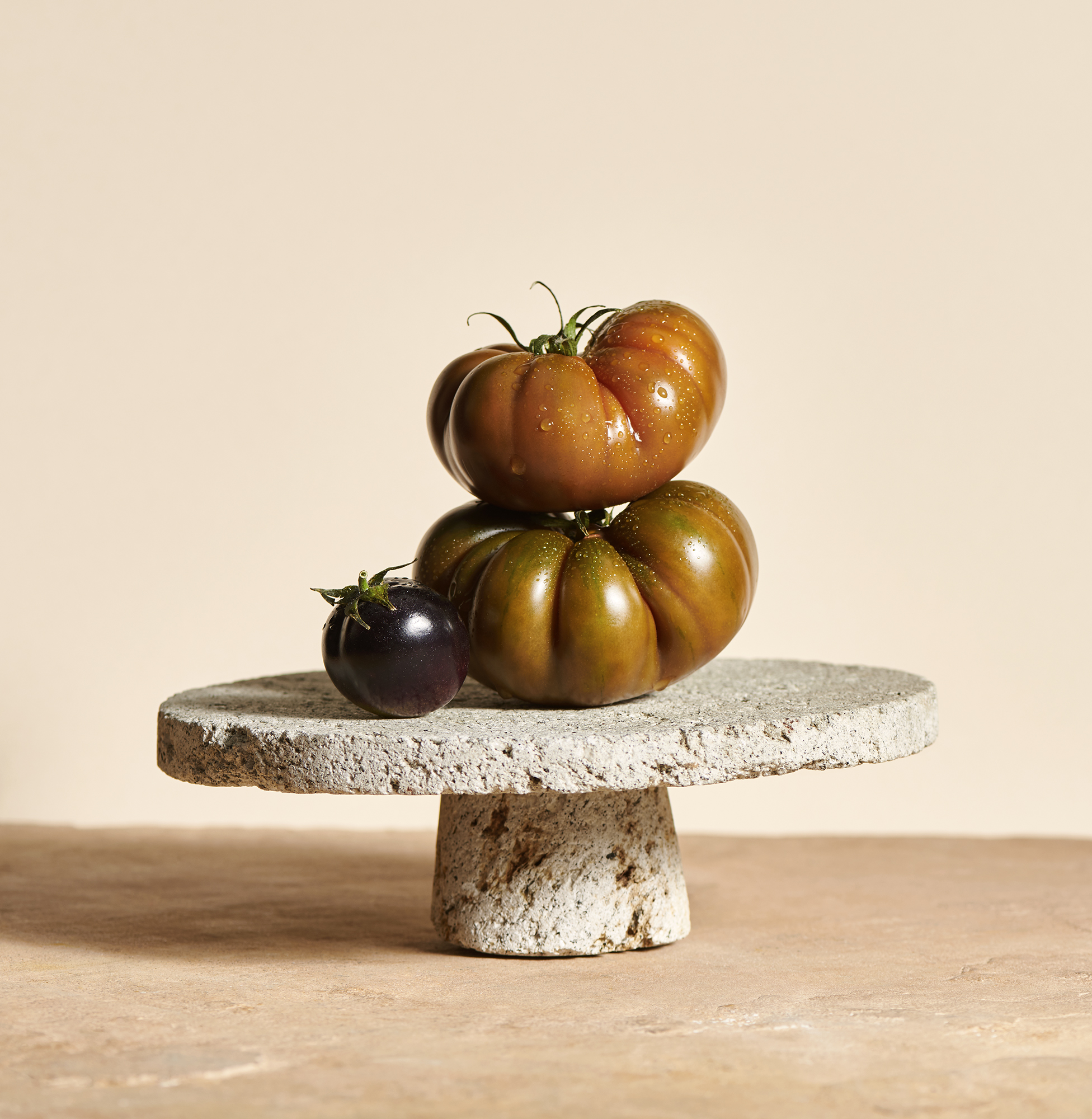 still life photography of heritage tomatoes