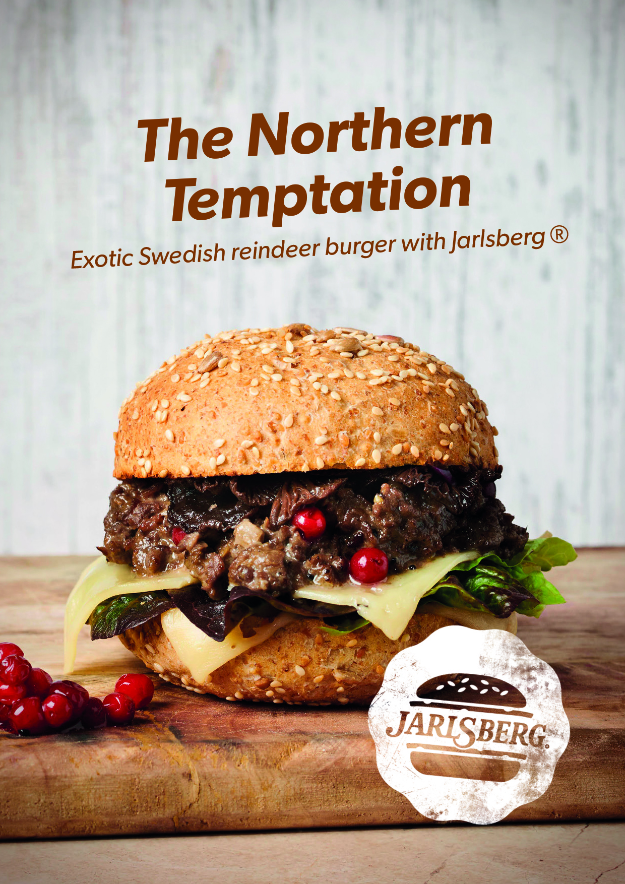 Jarlsberg cheese burger advertising photography