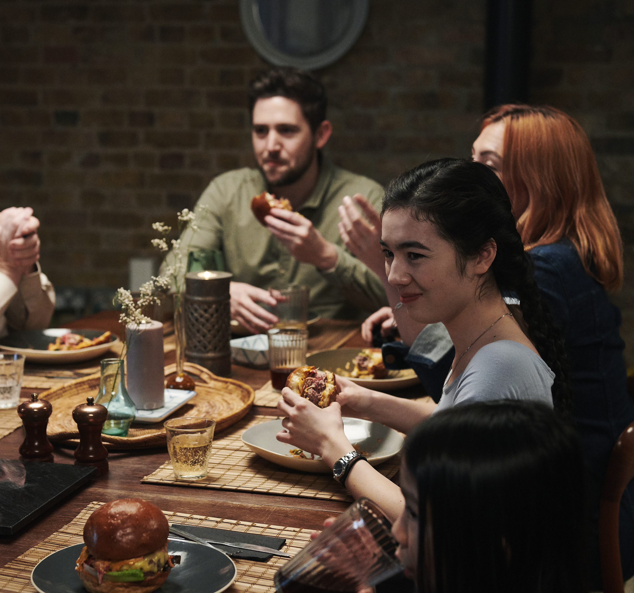 lifestyle image of a family meal by food photographer Holly Pickering