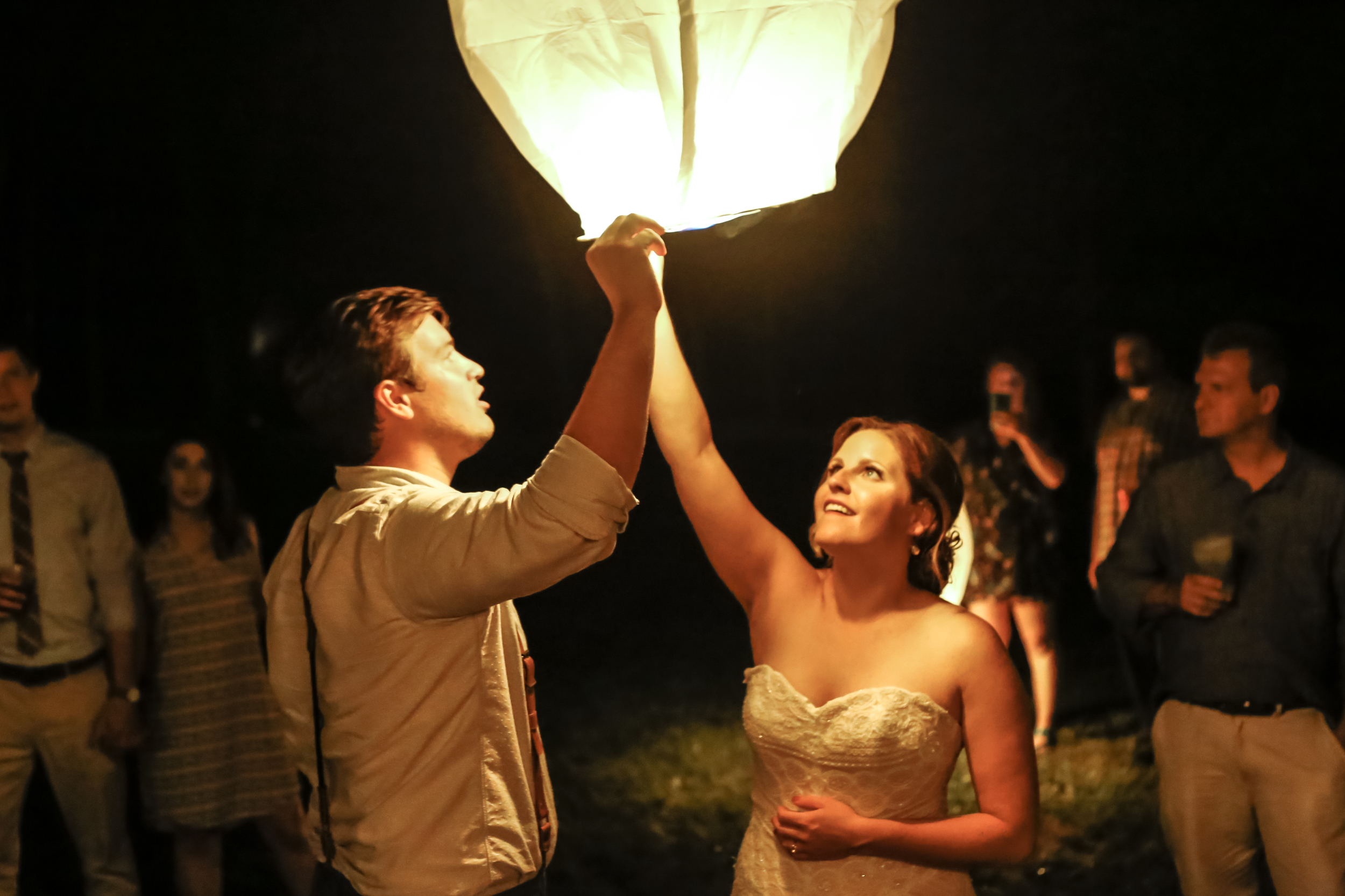style altard st louis wedding lantern glow