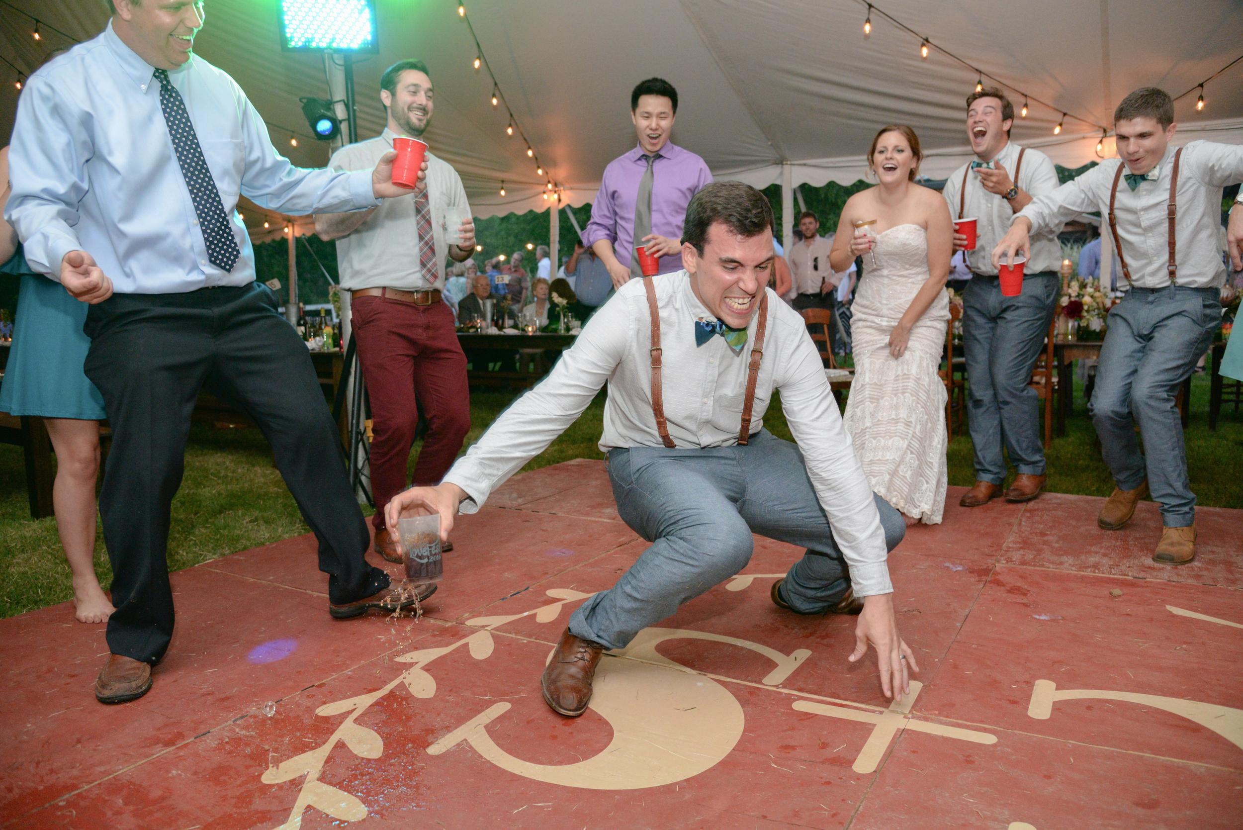 st louis wedding reception candid dancing