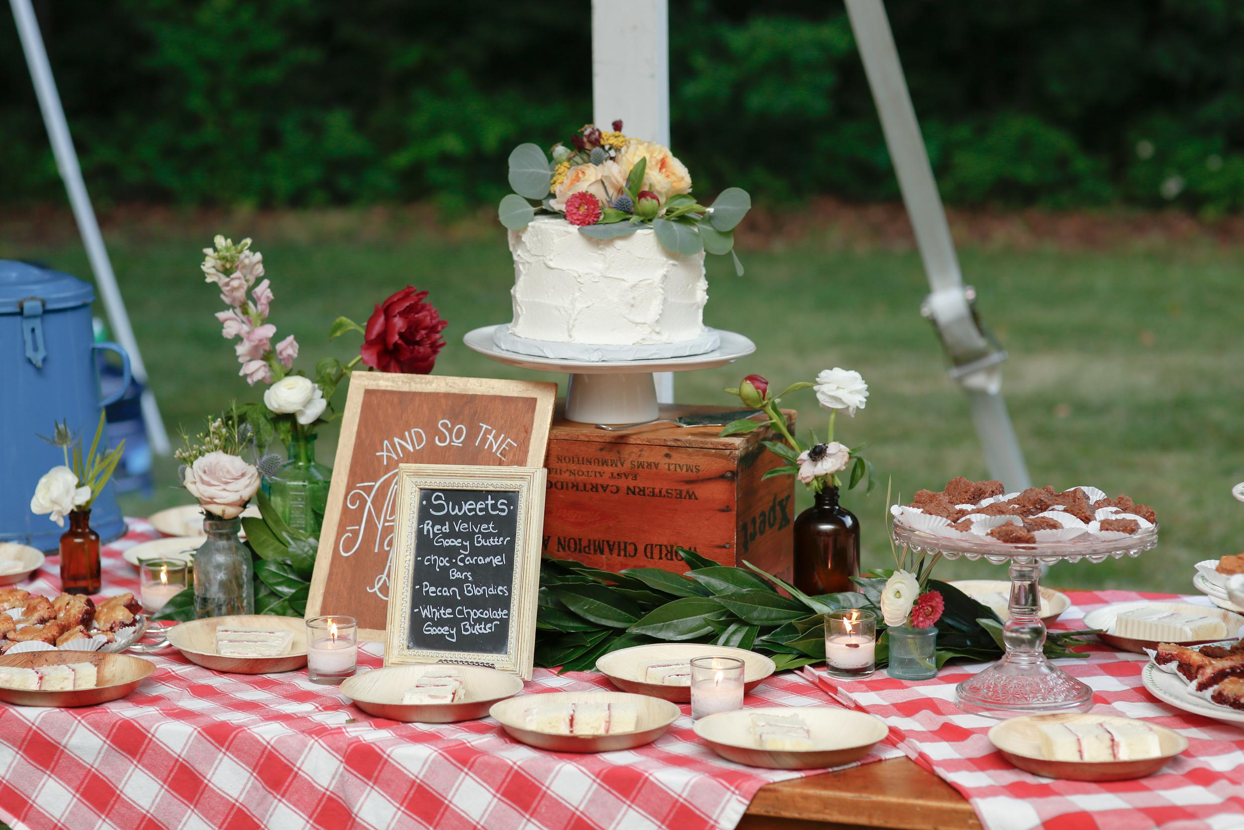 style altard st louis wedding dessert table