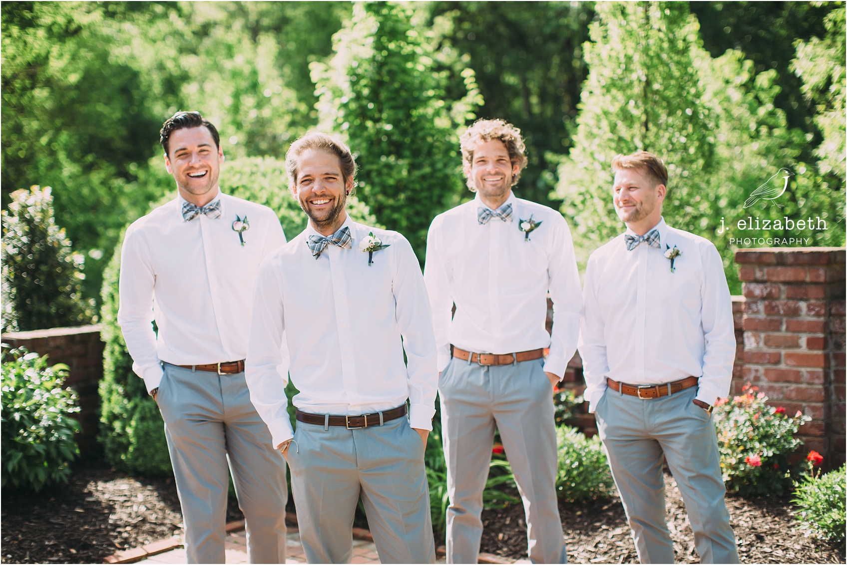 style altard st louis wedding groomsmen