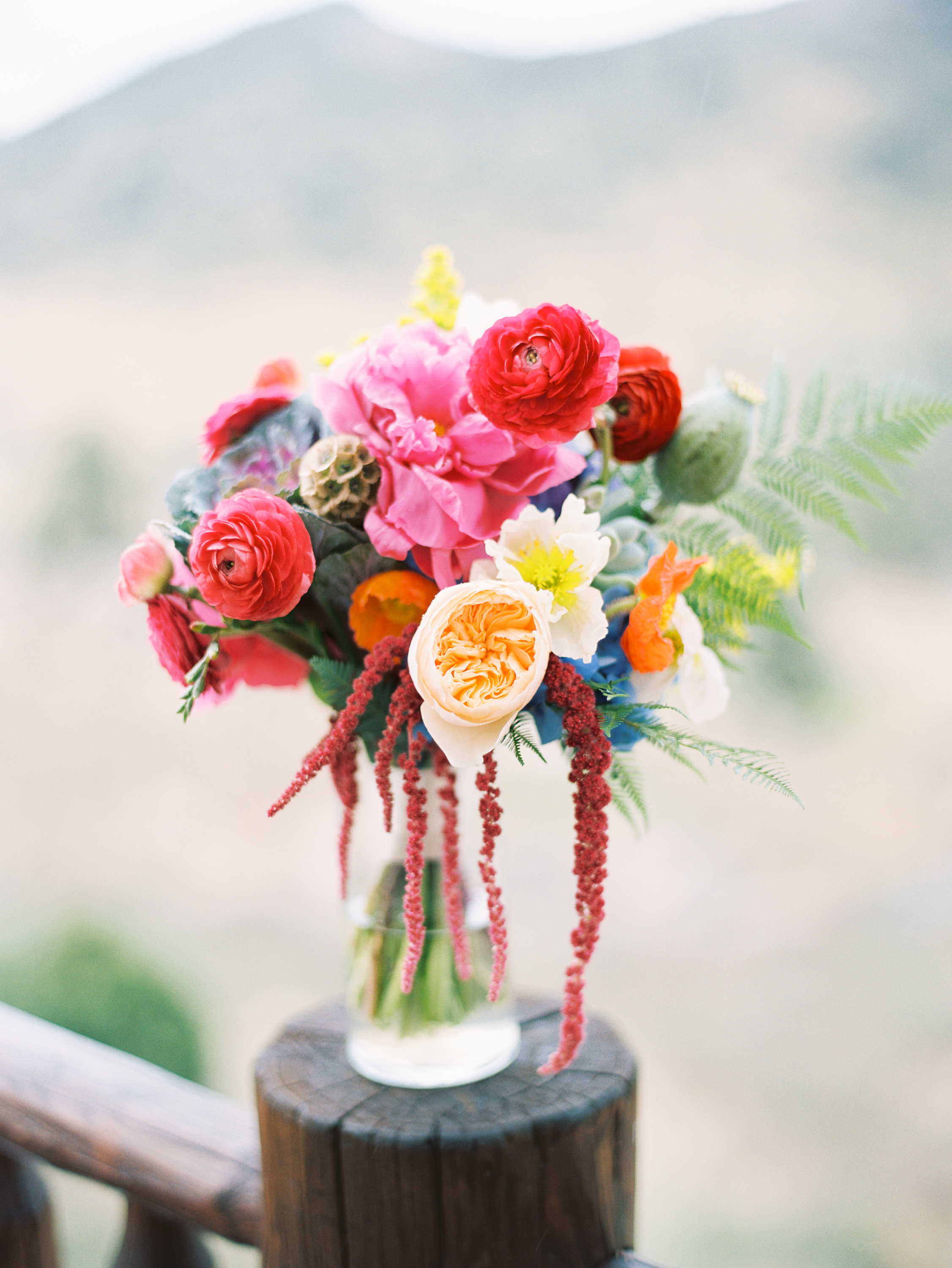 Lace and Lilies, Bridal bold and colorful bouquet