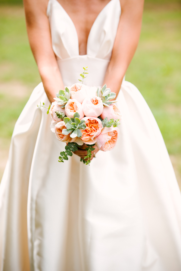Flowers by Lace and Lilies - Peach Wedding - Juliet Garden Rose - Succulent Bouquet - Colorado Wedding