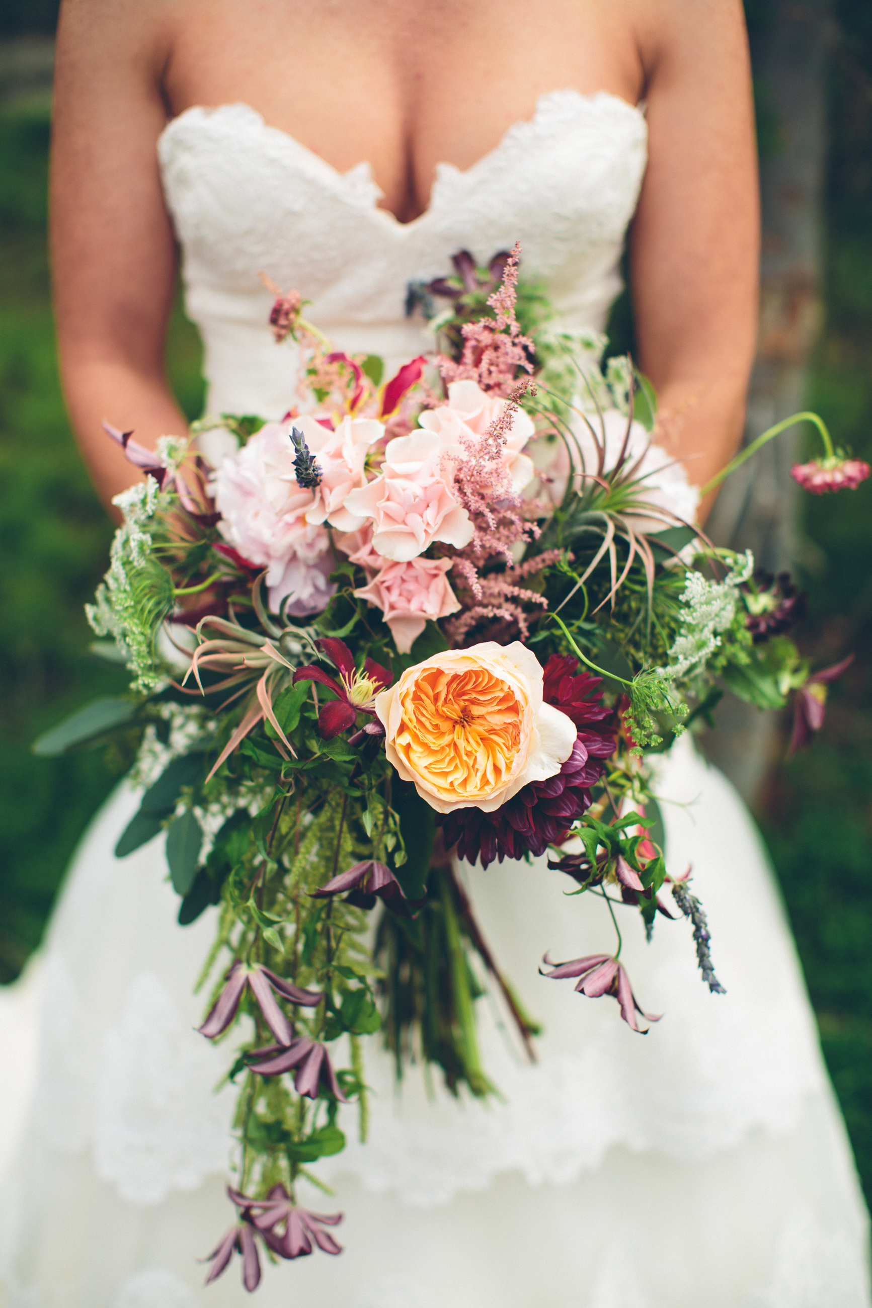 Flowers By Lace and Lilies - Woodlands Wedding - Rustic Wedding - Air Plant Bouquet - Wild Flower Bouquet