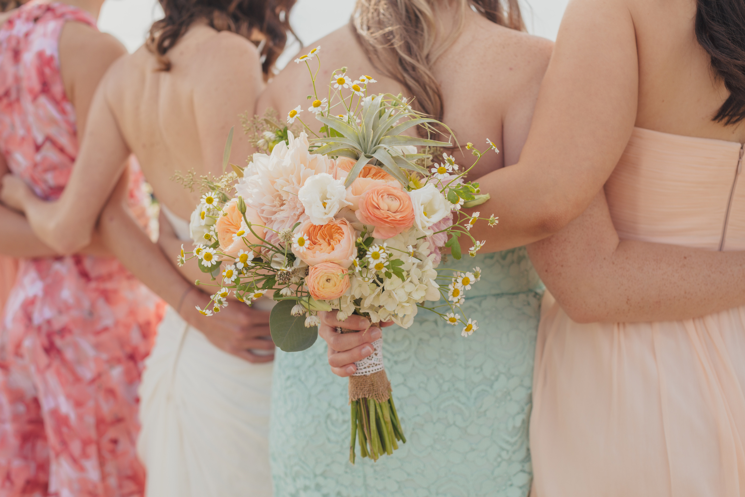 Flowers by Lace and Lilies - Air Plant Bouquet - Bridesmaids - Colorado Wedding - Wild Flower Bouquet