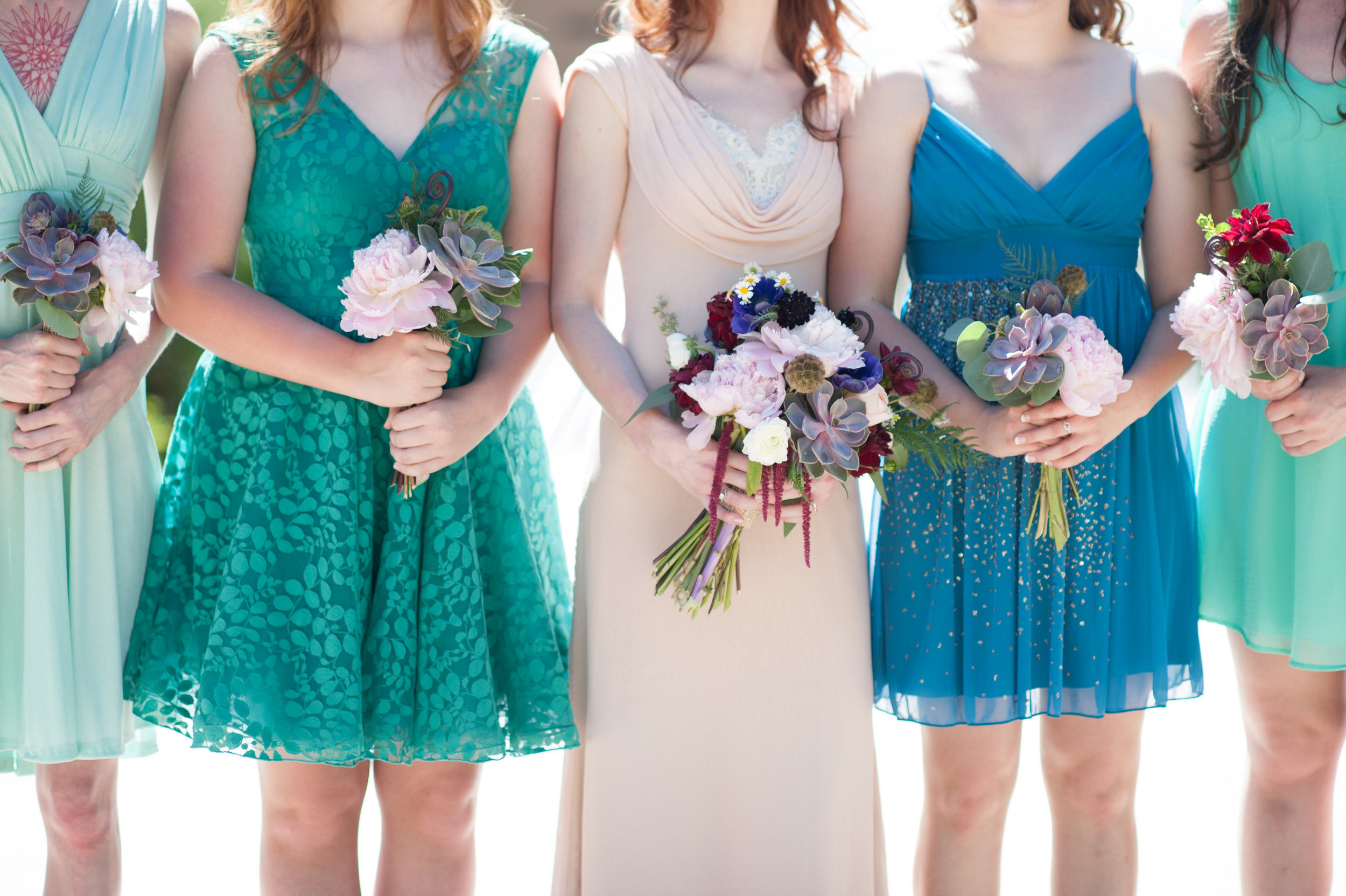 Flowers by Lace and Lilies - Succulent Bouquets - Bridesmaids - Blue Wedding - Colorado Wedding