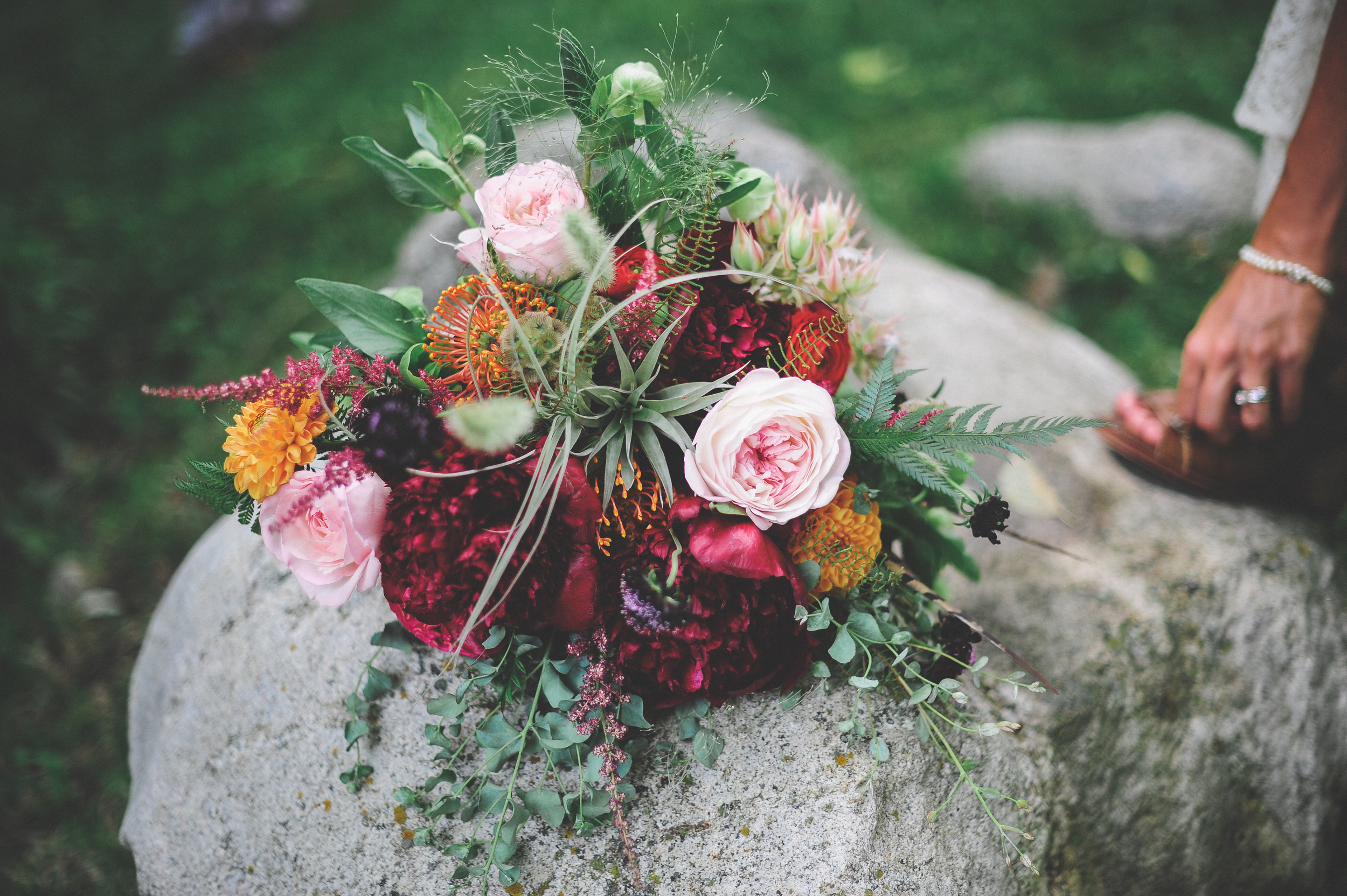 Flowers by Lace and Lilies, Colorado Wedding, Air plant Bouquet, Burgundy Flowers, Bridal Bouquet