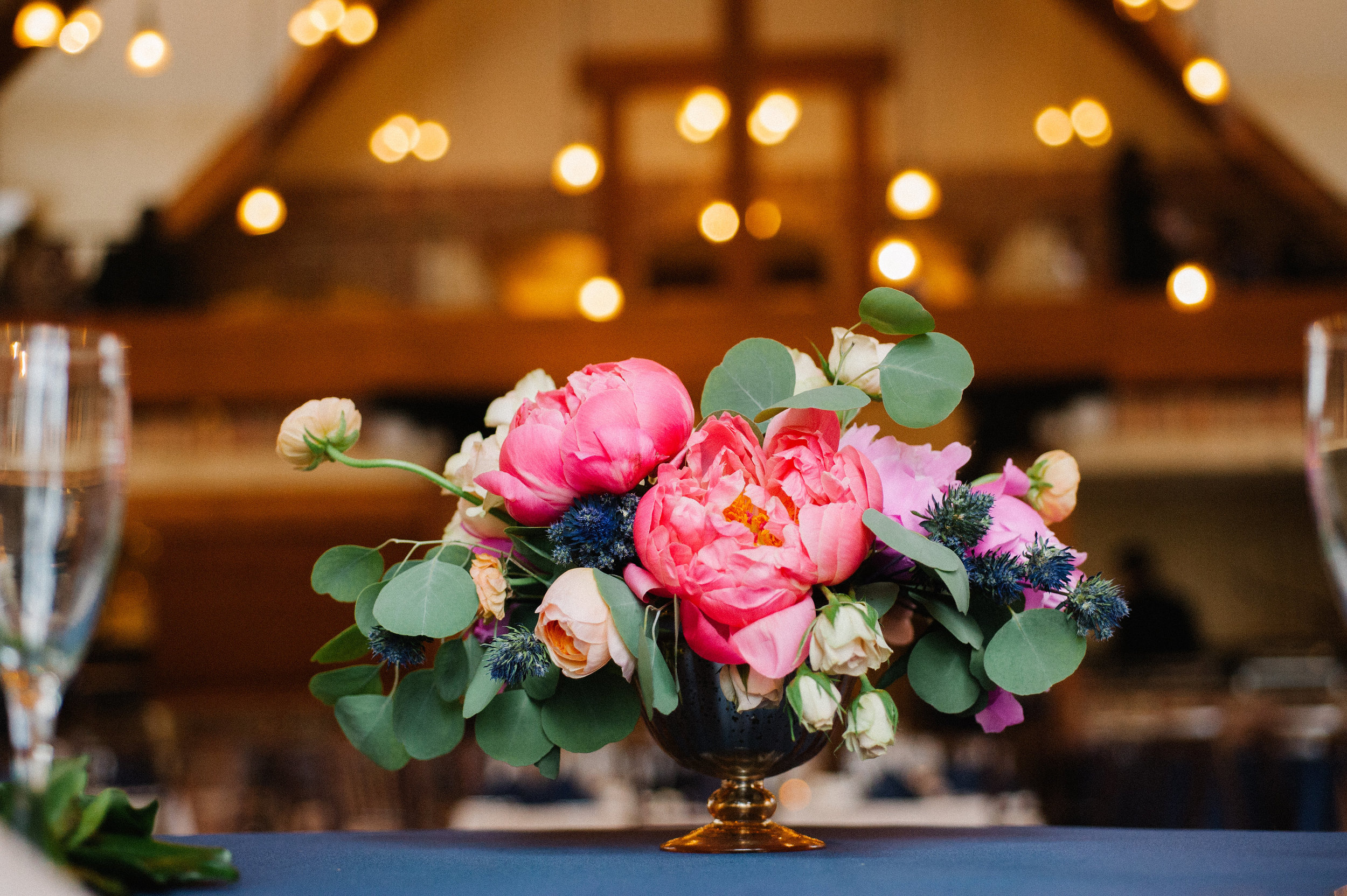 Flowers by Lace and Lilies, Colorado Wedding, Peonies, Peony Centerpiece, Bright Centerpiece,