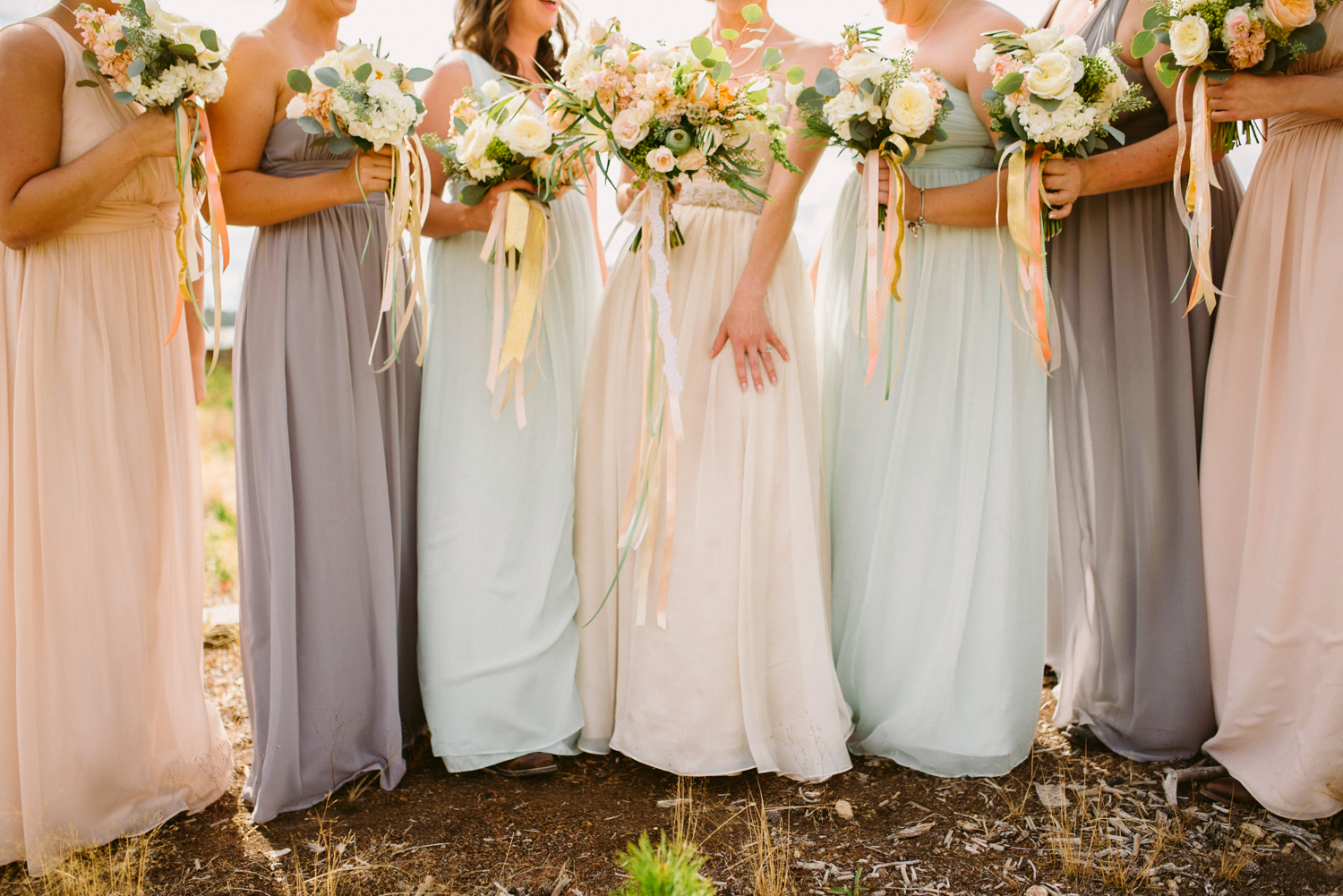 Flowers by Lace and Lilies, Colorado Wedding, Blush Wedding, Bridal Party, Bridal Bouquet