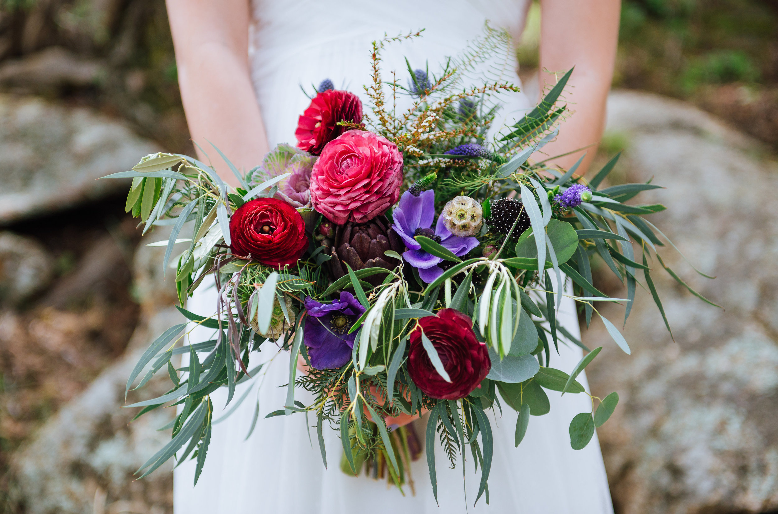 Flowers by Lace and Lilies, Colorado Wedding, Bridal Bouquet, Eucalyptus
