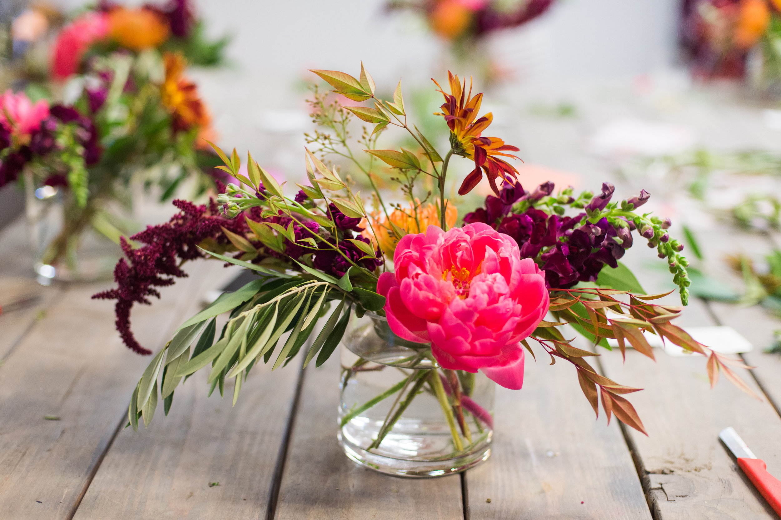 Lace and Lilies floral design workshop, Fort Collins Colorado fun - coral charm peony