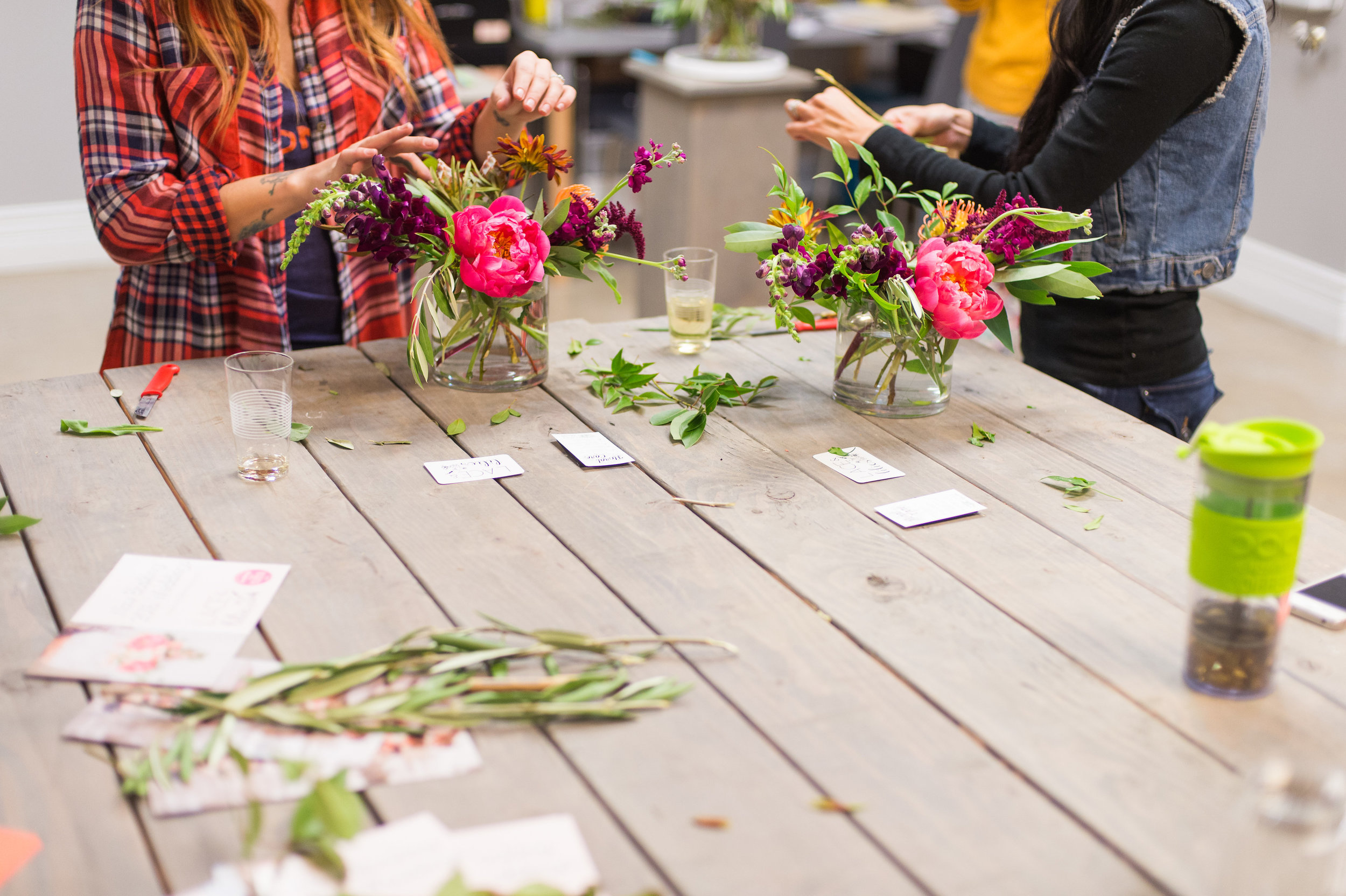 Lace and Lilies floral design workshop, Fort Collins Colorado fun