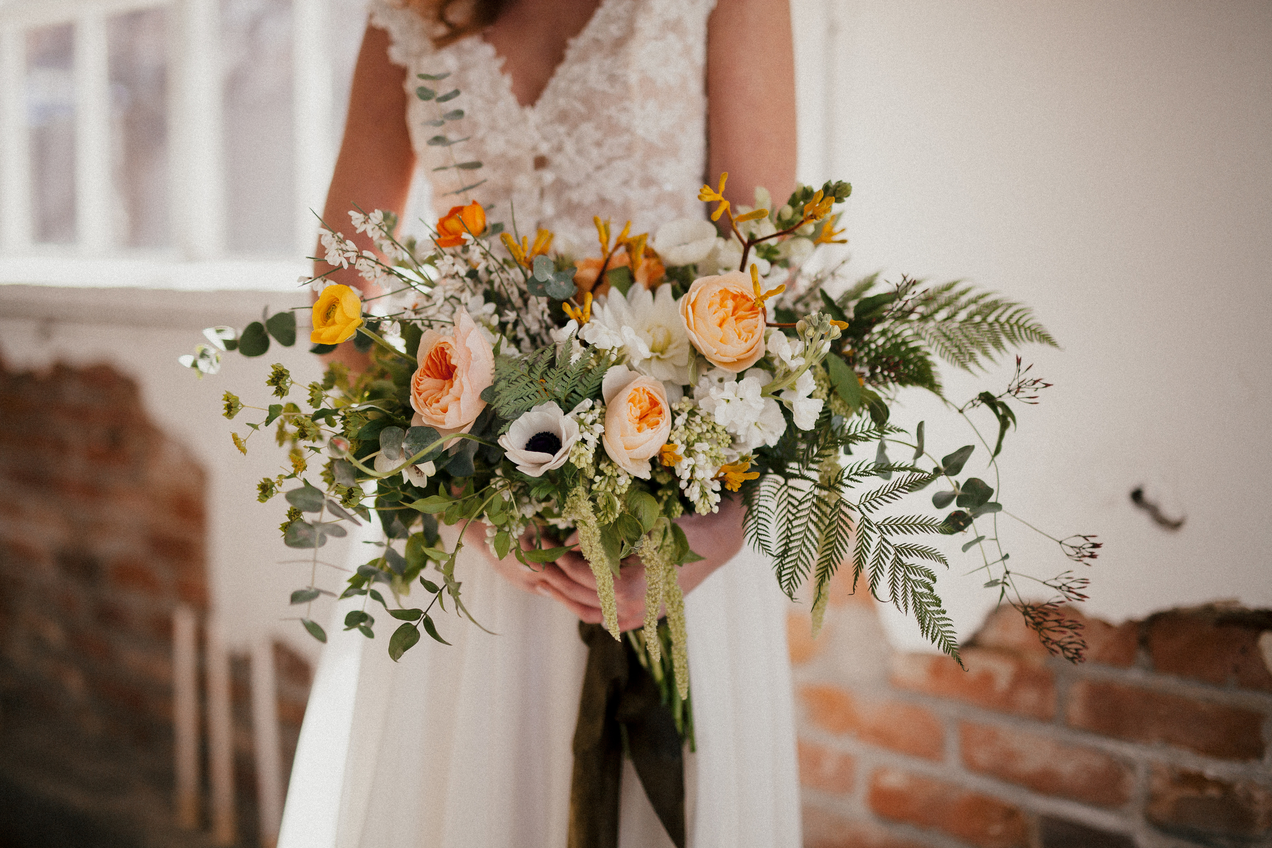 Flowers by Lace and Lilies, Garden Wedding, Bridal Bouquet, Peach Ivory Yellow Green Bouquet, Spring Wedding, Colorado Wedding