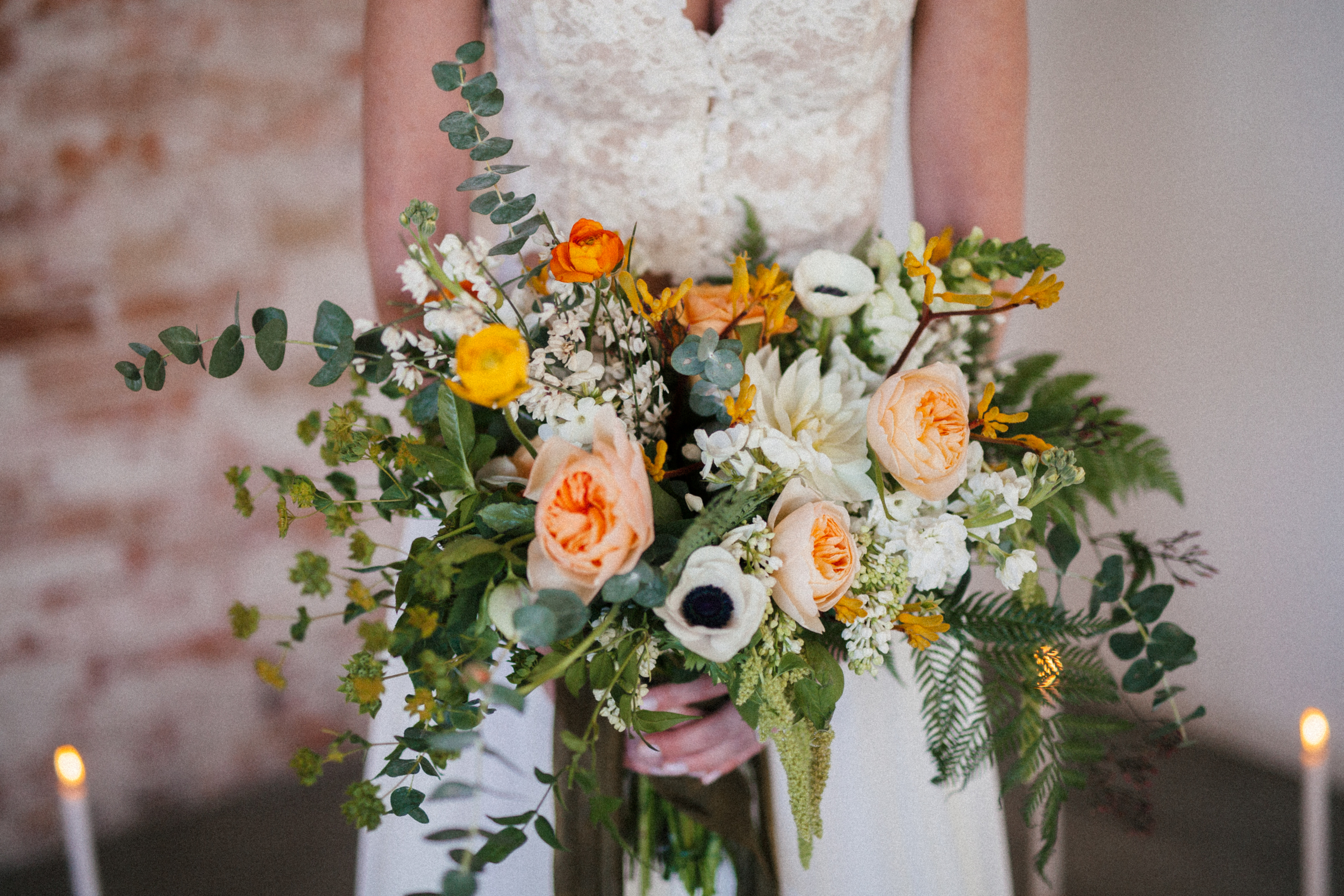 Flowers by Lace and Lilies, Bridal Bouquet, Spring Wedding, Yellow Green Ivory Peach Bouquet,