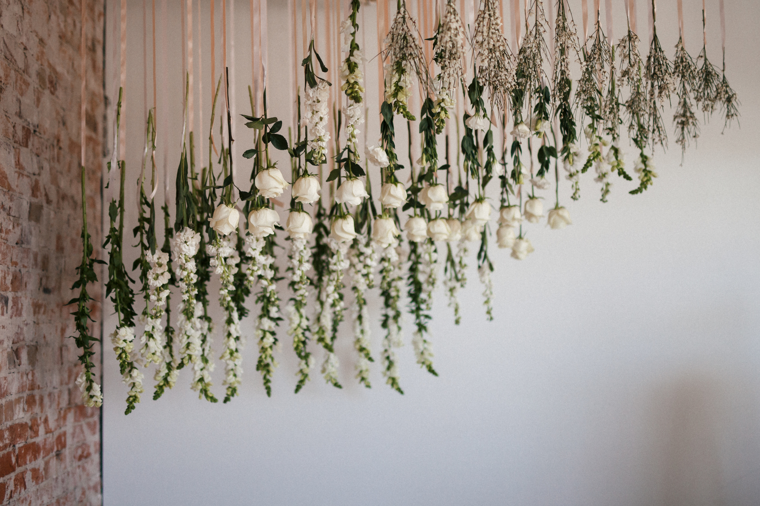 Flowers by Lace and Lilies, Flower Installment, Ceremony Backgrop