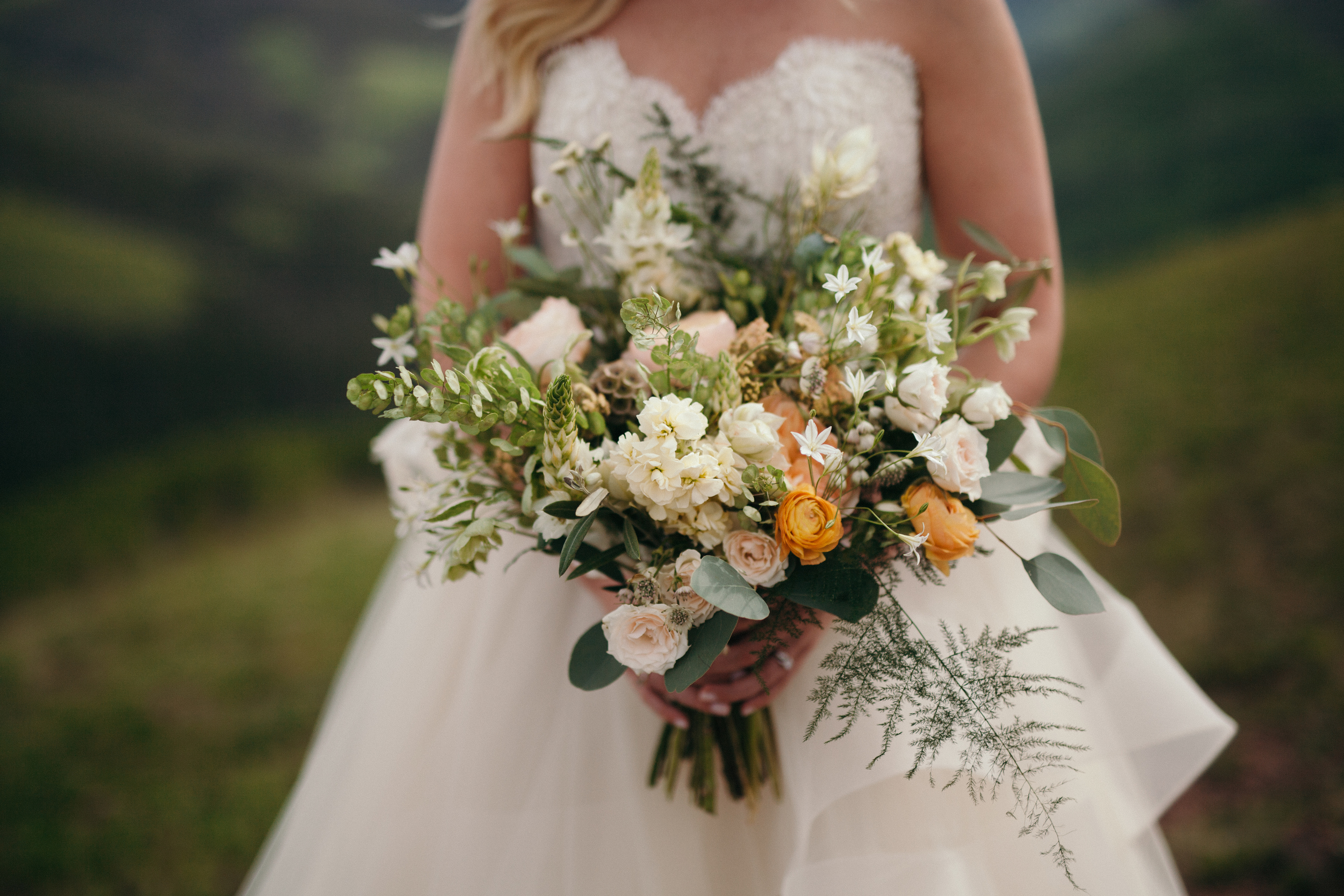 Flowers by Lace and Lilies, Vail Wedding, Garden Bouquet