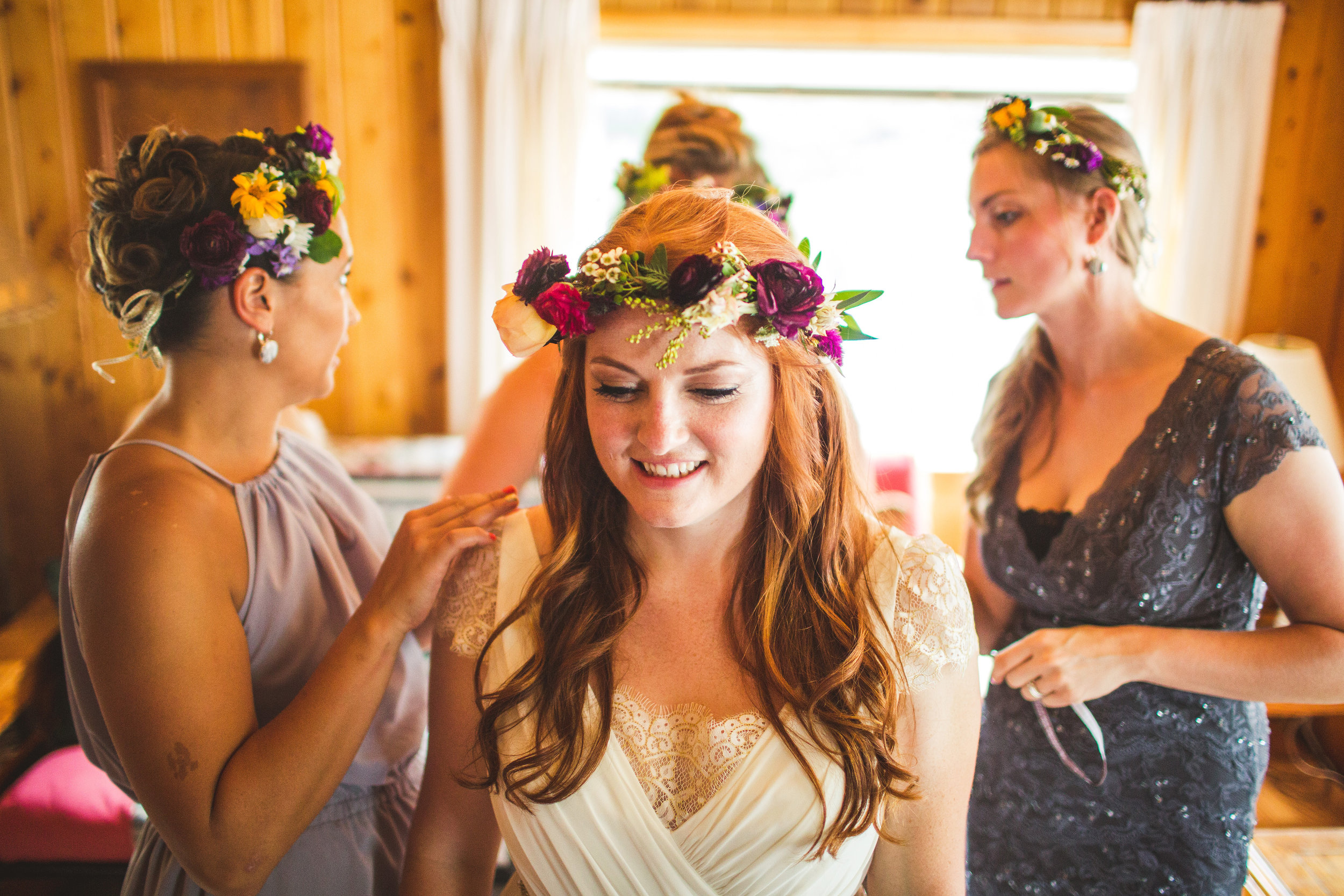 Flowers by Lace and Lilies, woodlands bouquet, colorful garden rose, ranunculus and fern flower crown, wildflowers