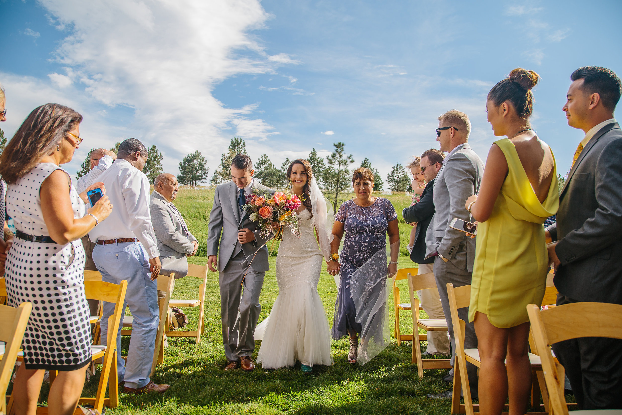 Flowers by Lace and Lilies - summer, bride, bridal bouquet, colorado, wedding, spruce mountain ranch, aisle, bouquet, colorful, vibrant, modern, lush, full, organic, outdoor wedding