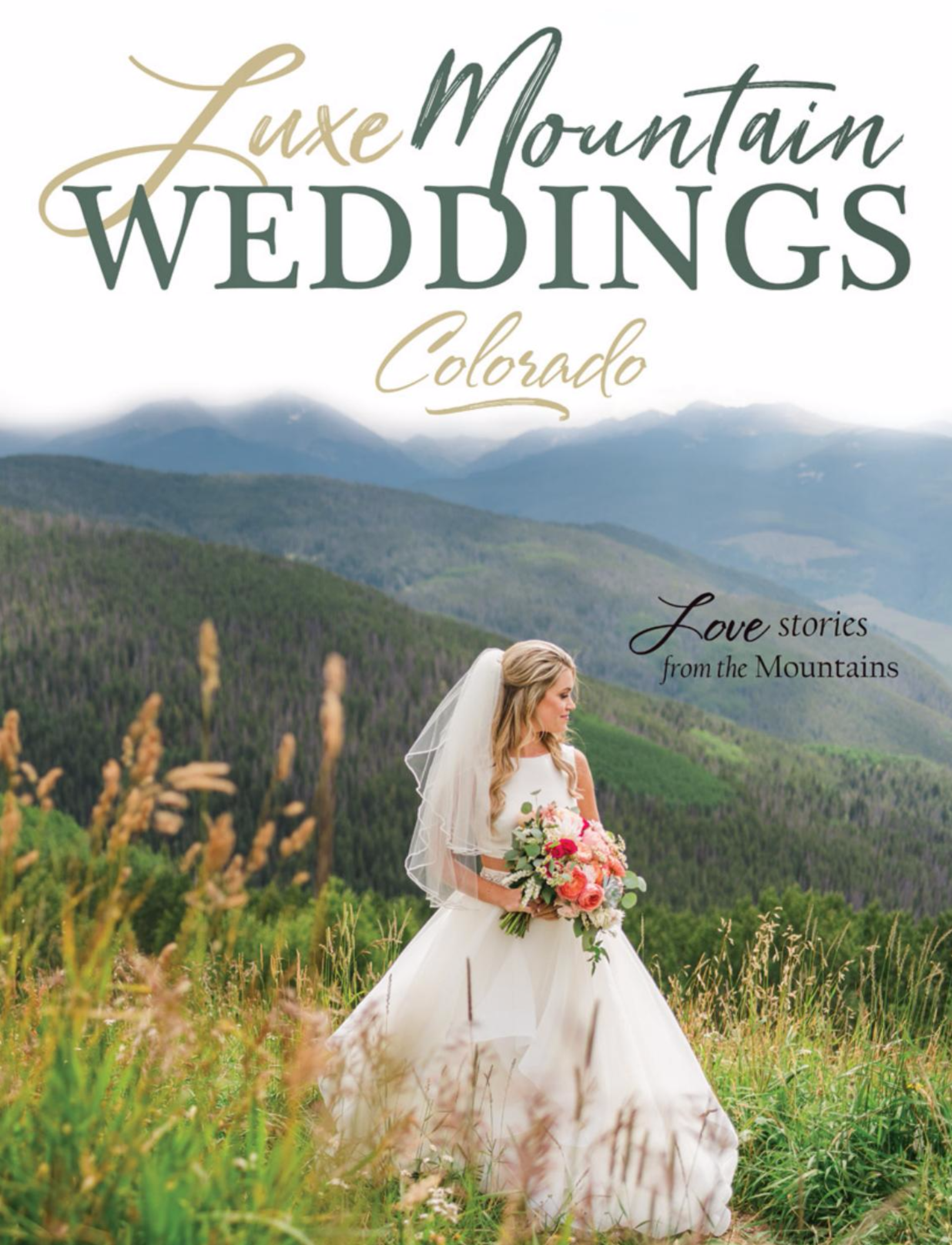 This beautiful and bold summer Vail Wedding made the cover of Luxe Mountain Weddings Magazine - click photo to see the full story!
