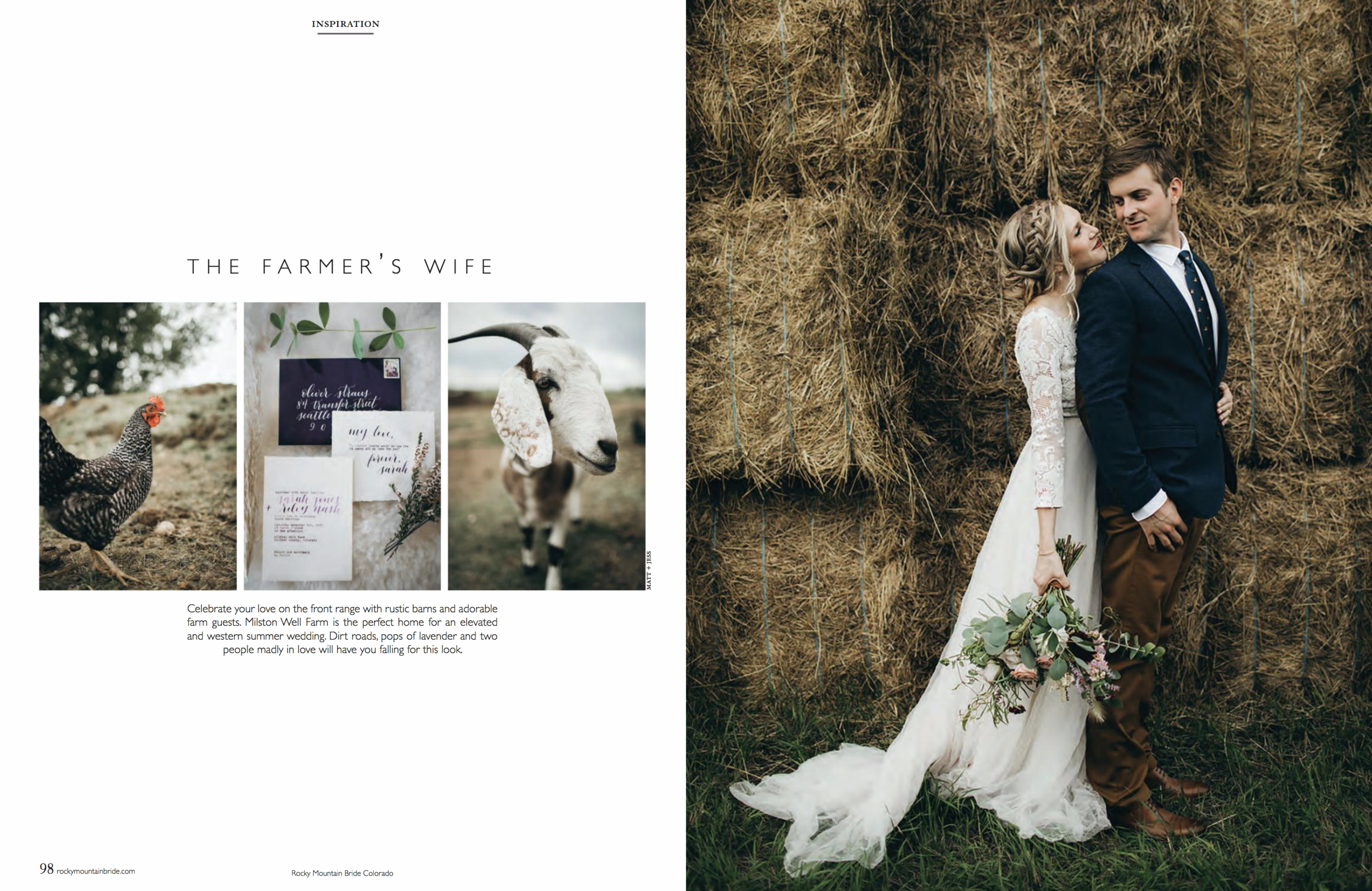 Flowers by Lace and Lilies, Rocky Mountain Bride Magazine