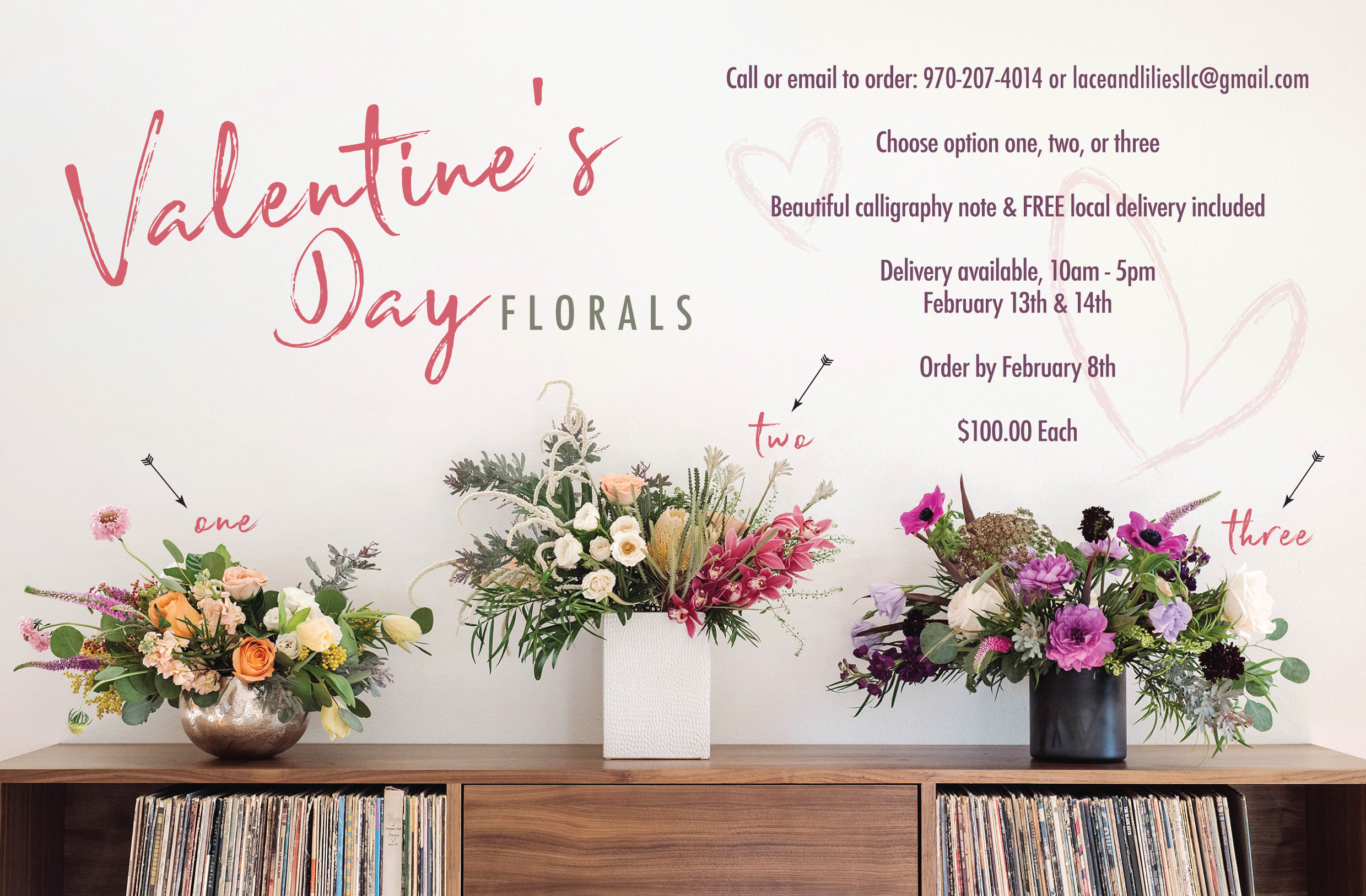 Fort Collins Valentine's Day Flowers by Lace and Lilies