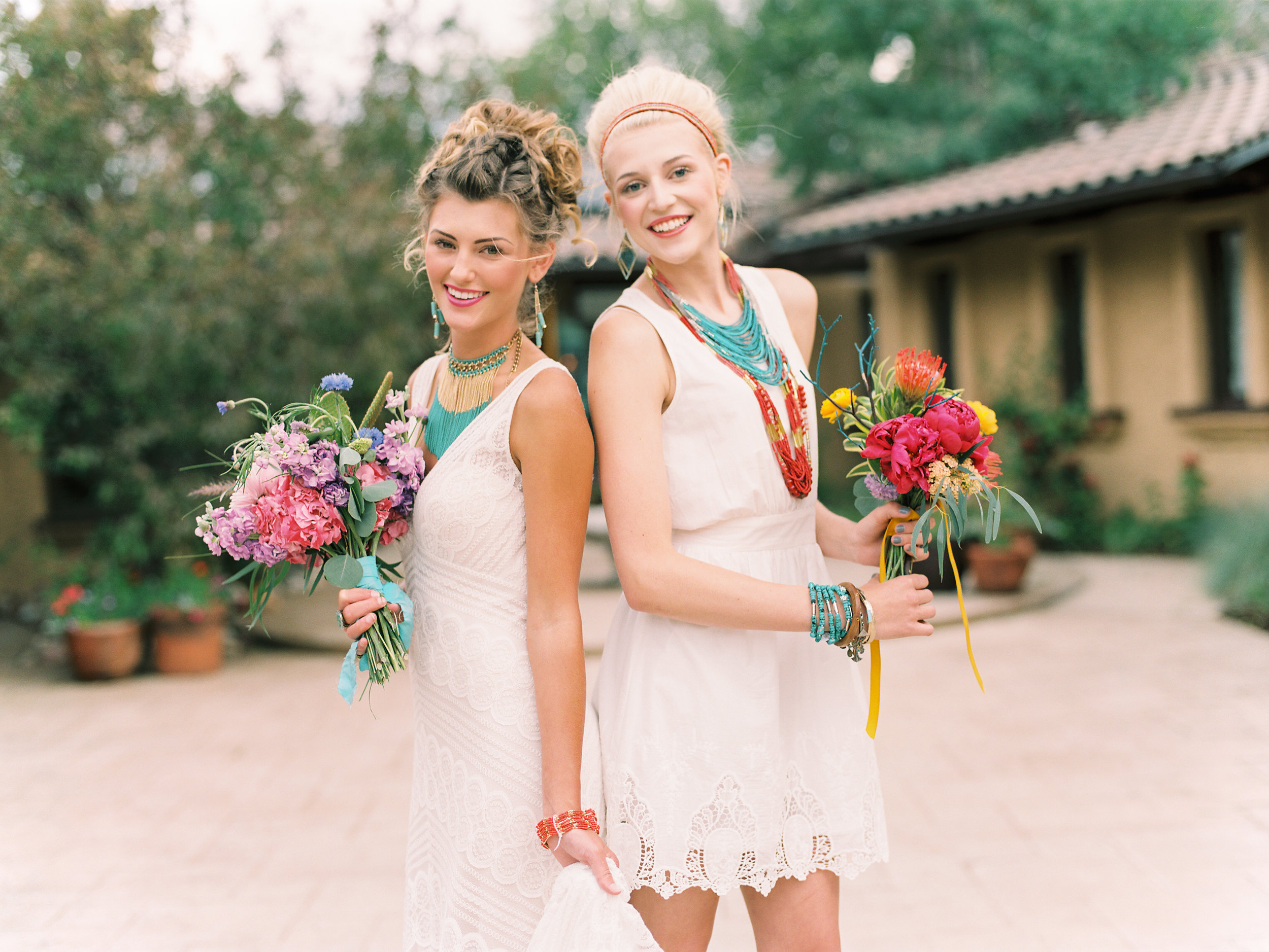 Flowers by Lace and Lilies, bridesmaid flowers, colorful flowers, vibrant flowers, Villa Parker wedding, Lisa O'Dwyer Photography, Janie Rocek Stylist Hair and Makeup, Lace and Lilies, Dora Grace Bridal-159 copy.jpg