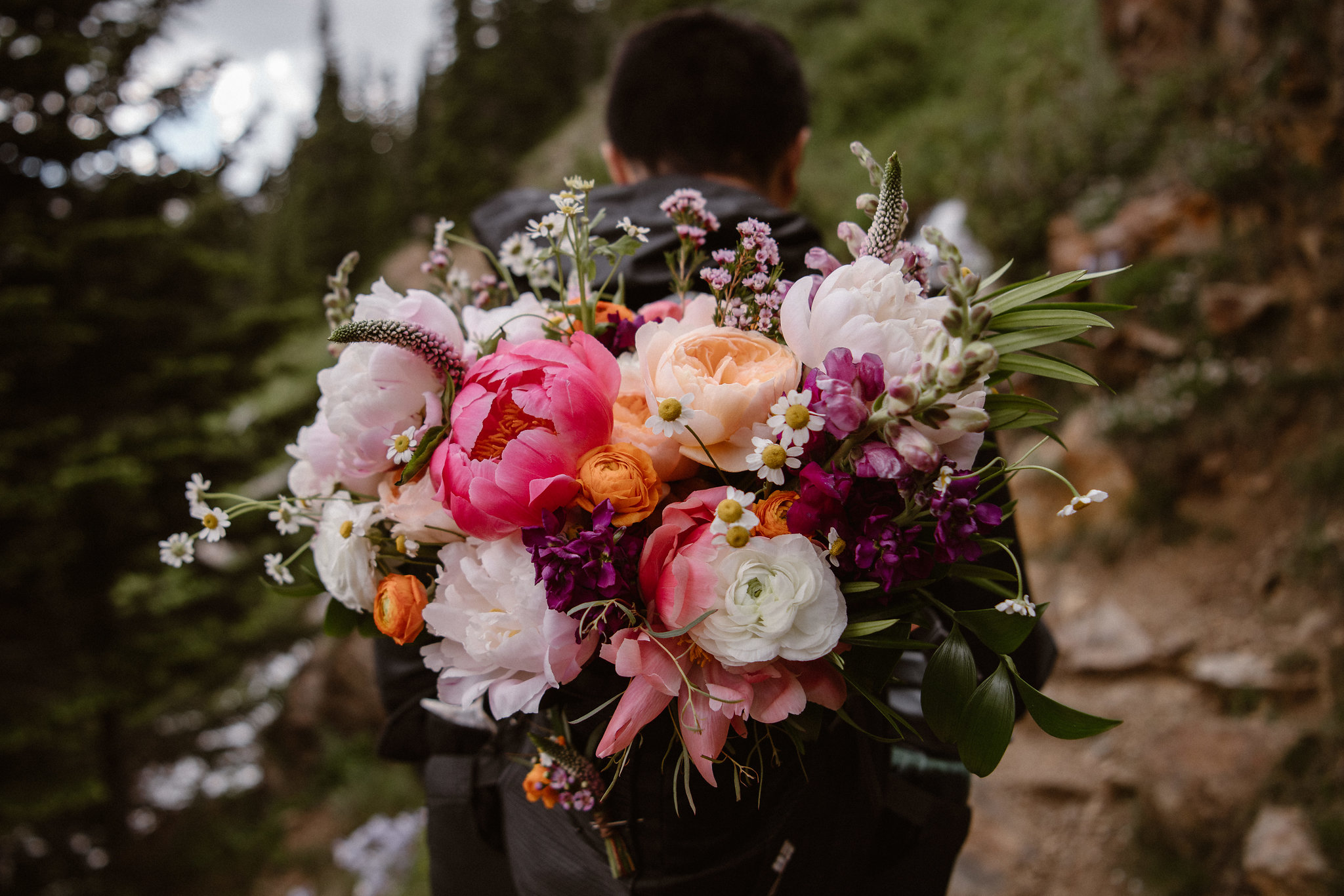 Flowers by lace and Lilies, elopement photography, bridal bouquet, colorful flowers, blush flowers, wedding flowers, colorado wedding