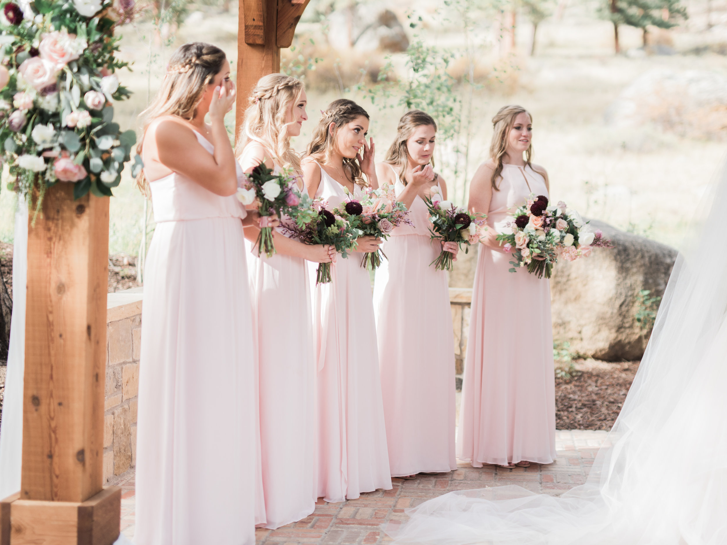 Flowers by Lace and Lilies, bridal bouquet, blush bridesmaid dresses, military wedding, blush flowers, burgundy flowers, mountain wedding, wedding photography