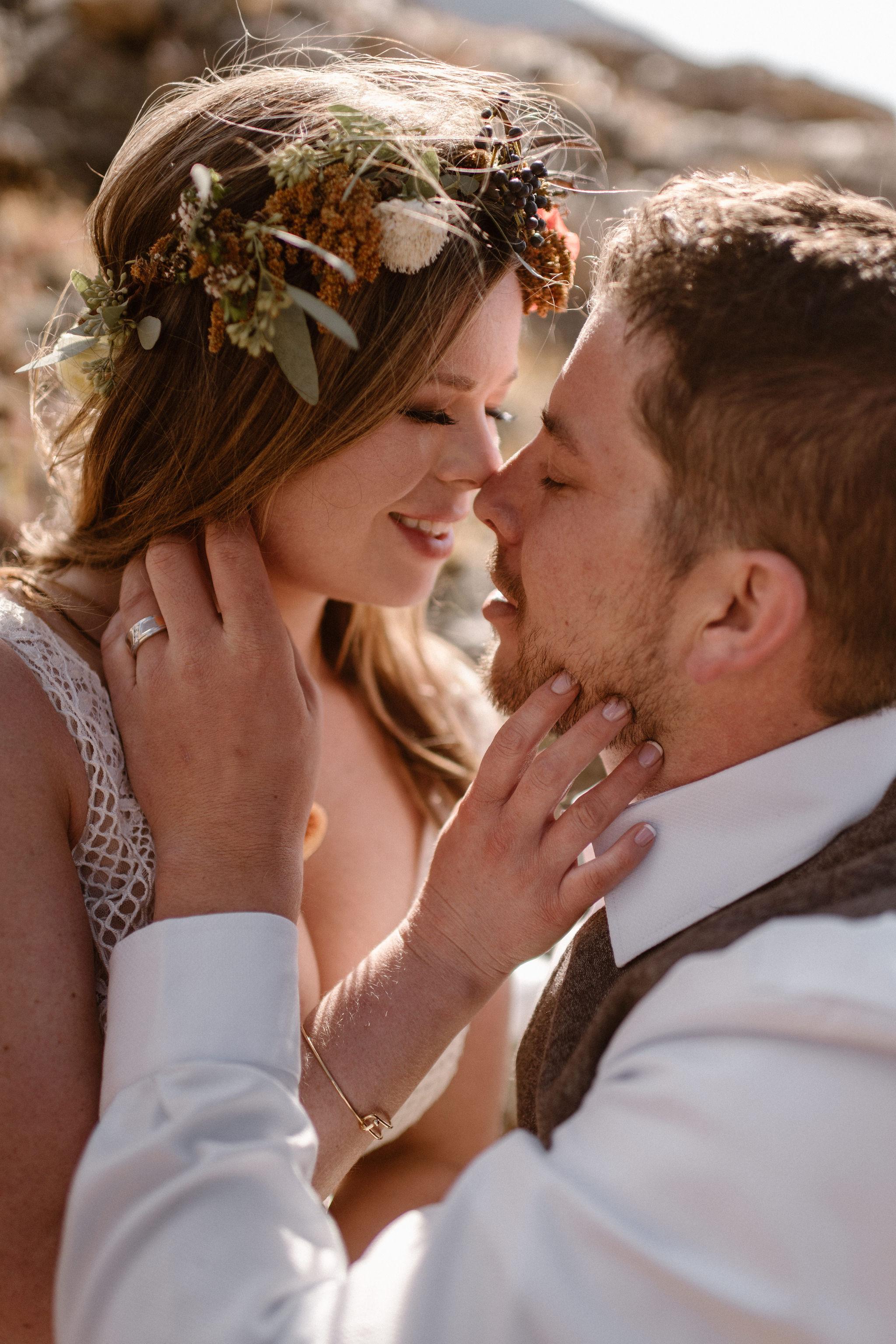 Flowers by Lace and Lilies, bridal bouquet, wedding bouquet, elopement, colorado wedding, colorado elopement, flower crown