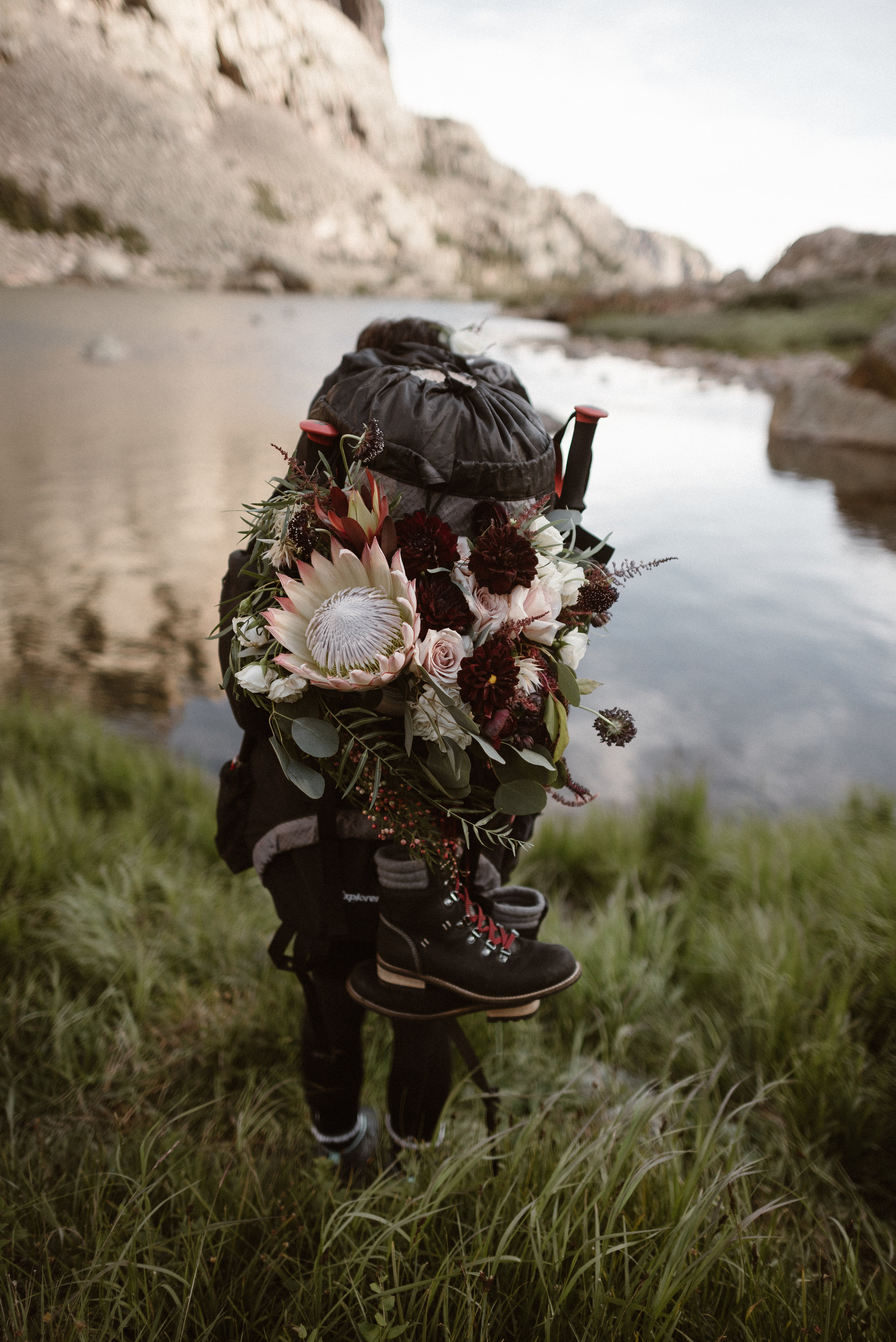 Flowers by Lace and lilies, bridal bouquet, elopement flowers, colorado wedding, mountain wedding, adventure instead